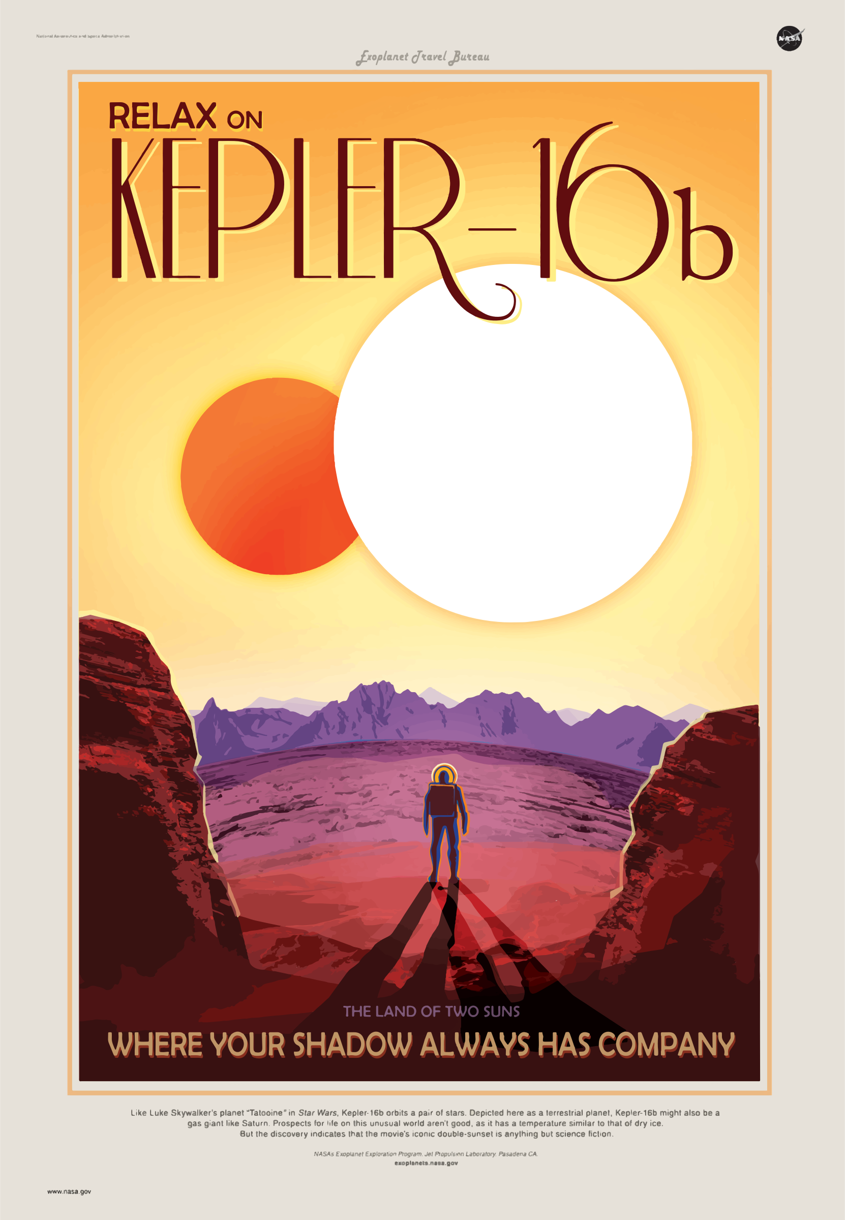 Kepler-16b NASA Poster by GDJ