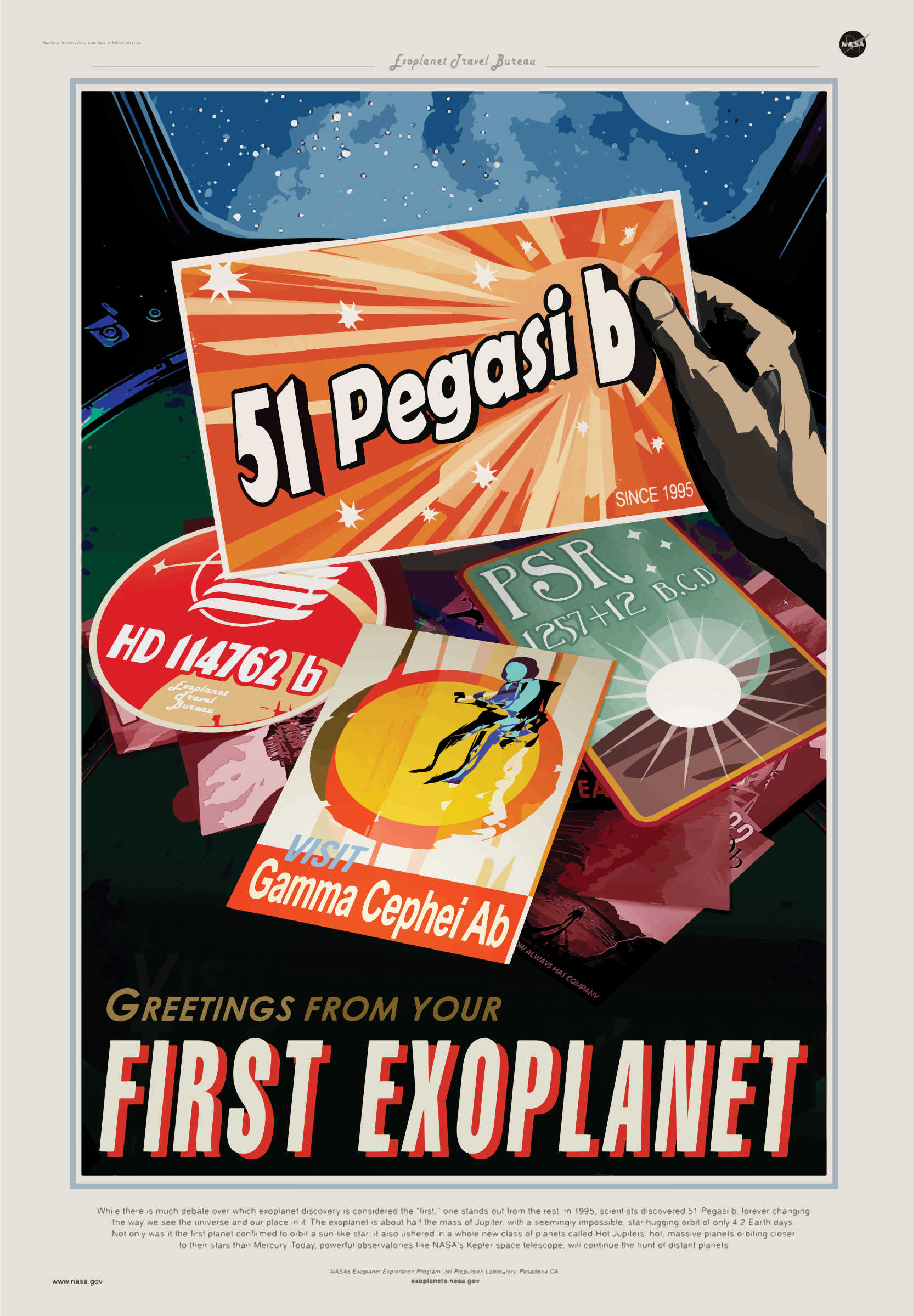 First Exoplanet NASA Poster by GDJ