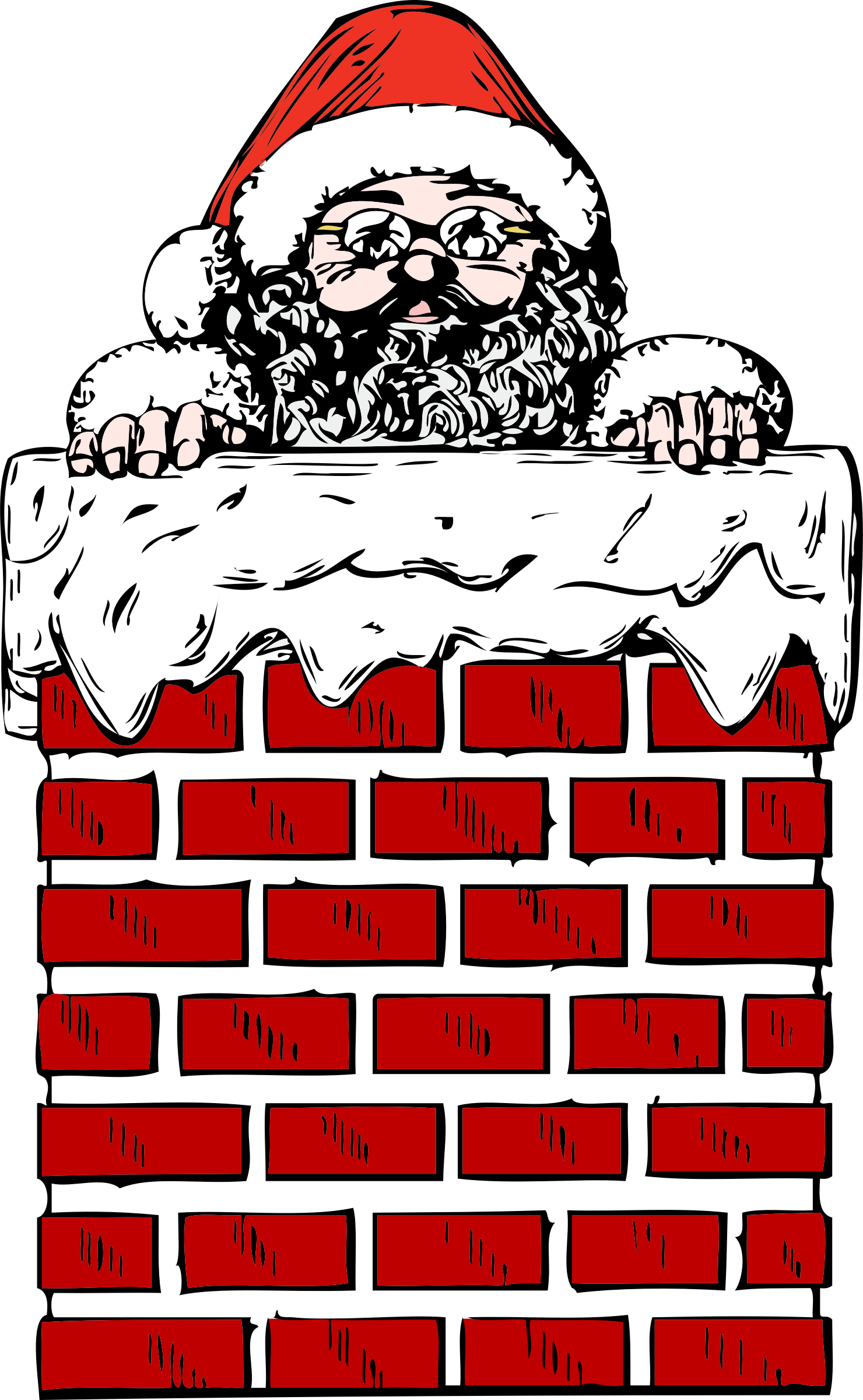 santa in a chimney by johnny_automatic