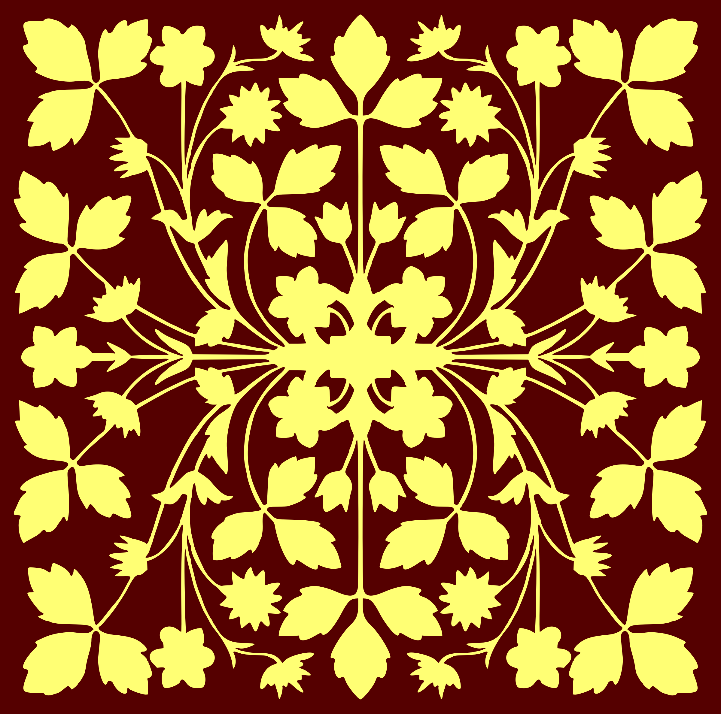 Floral tile 3 by Firkin