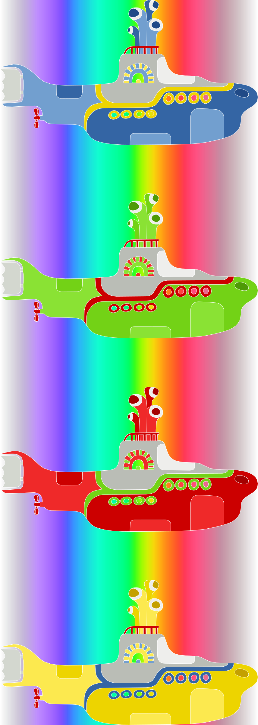 submarine colored by ric5sch