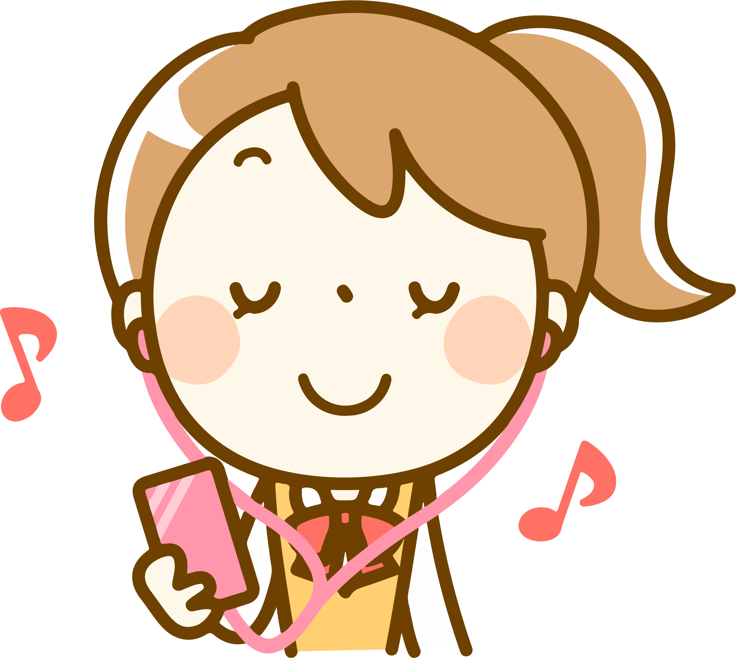 clipart - woman listening to music (#1)
