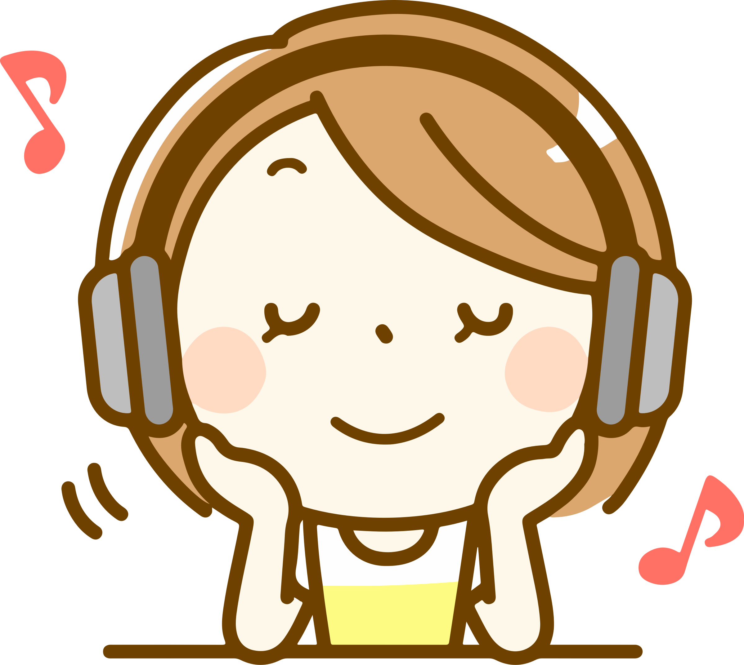 clipart - woman listening to music (#2)