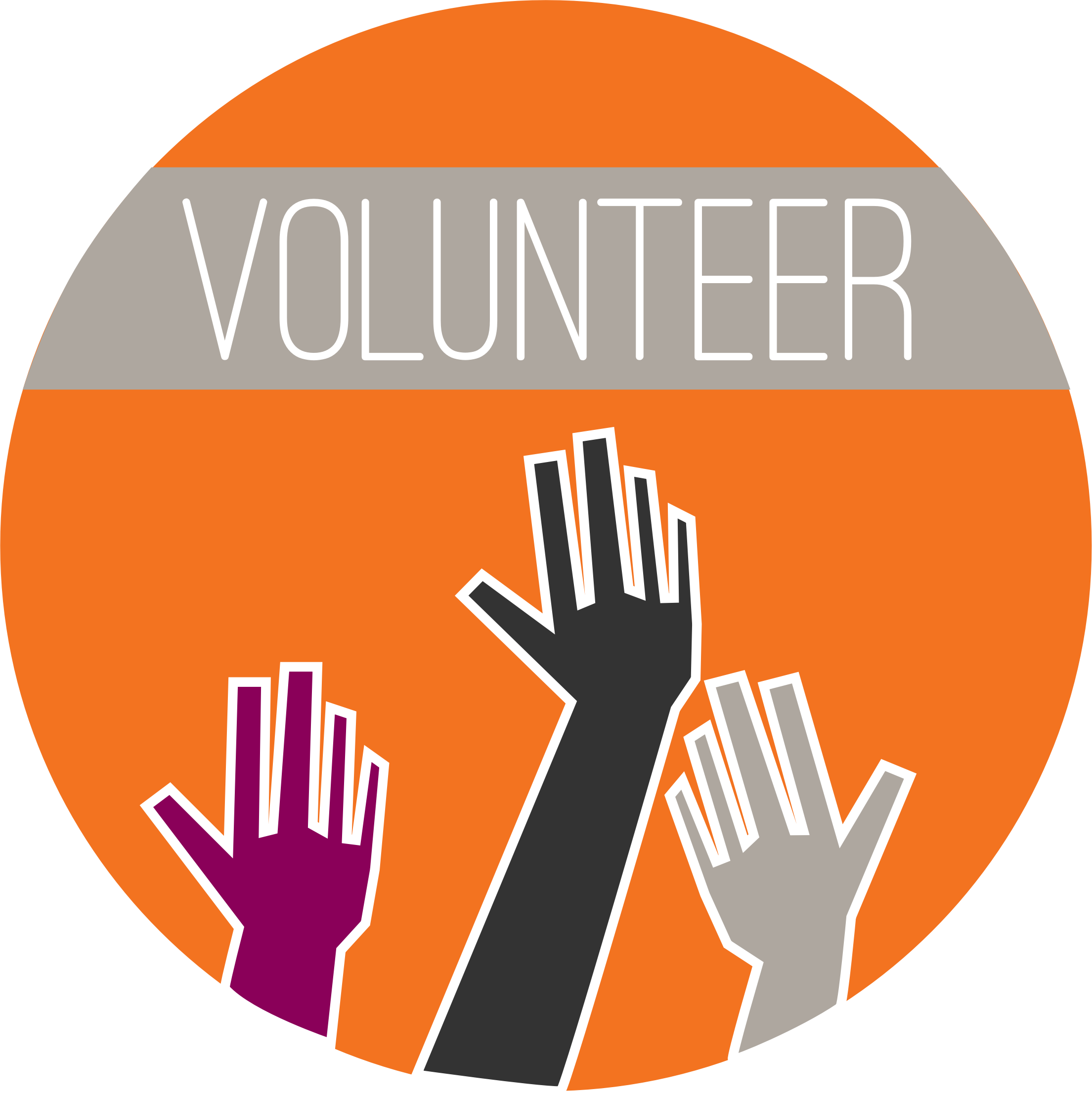 Volunteering Round Logo by yleventhal