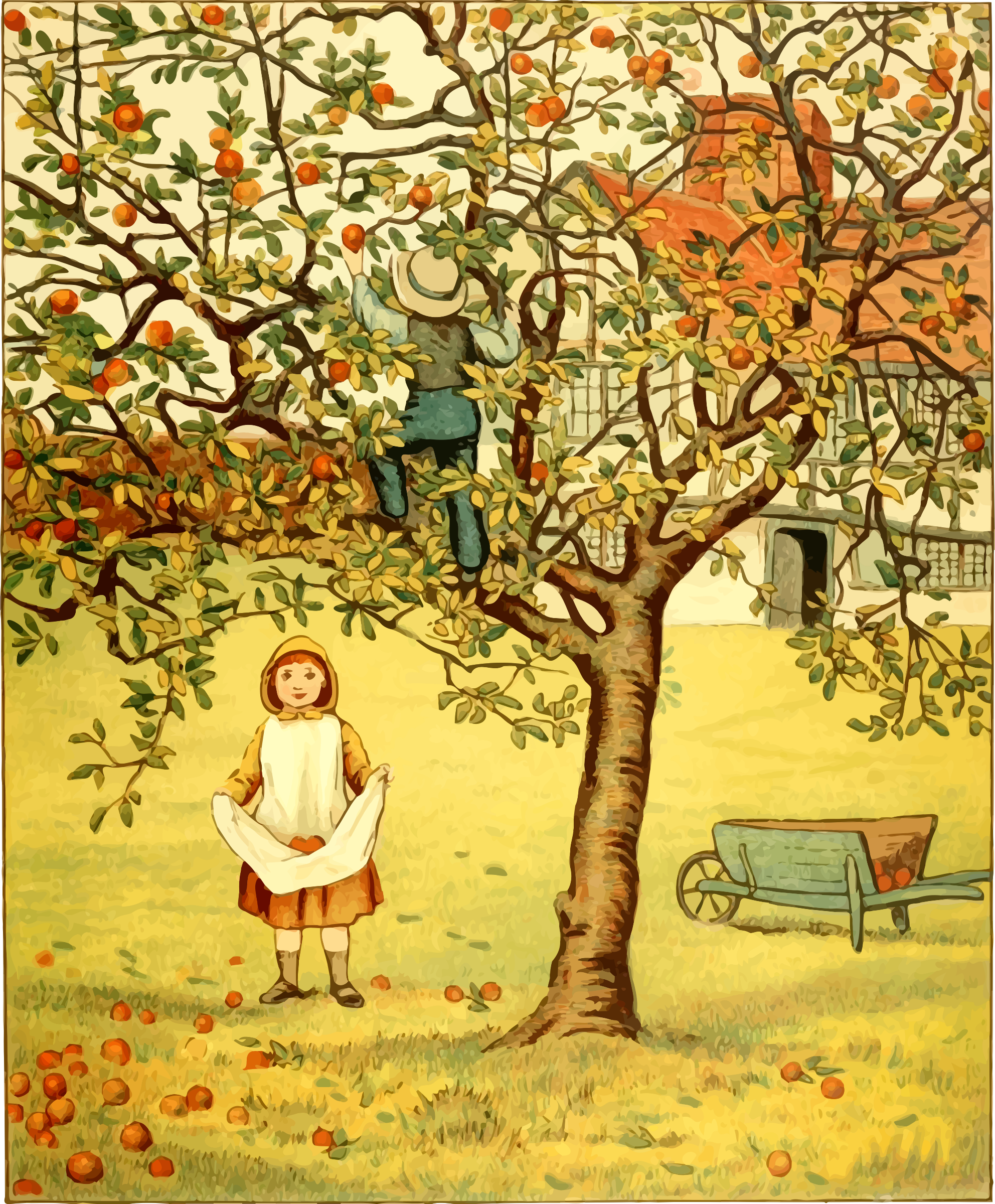Picking apples by Firkin
