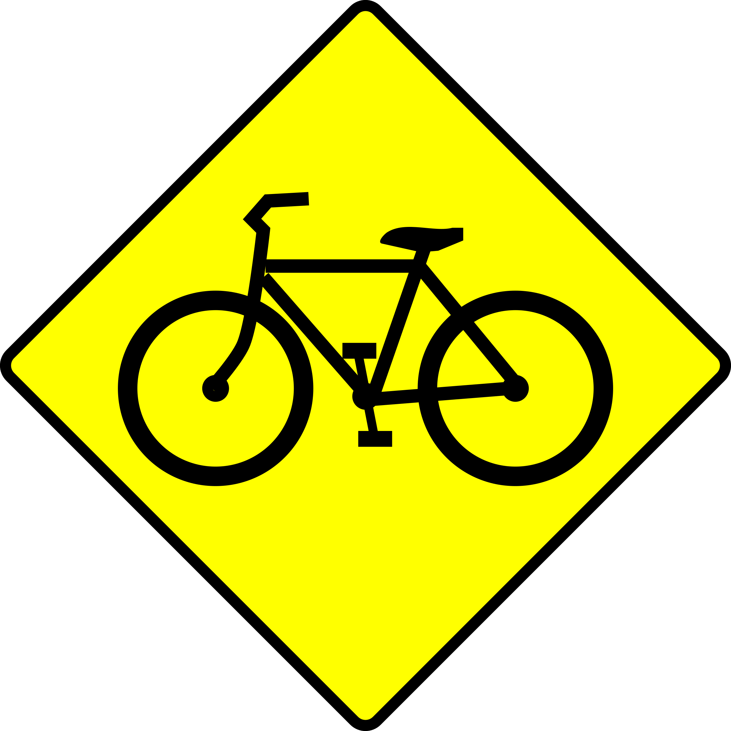 Bicycle Caution Sign by algotruneman