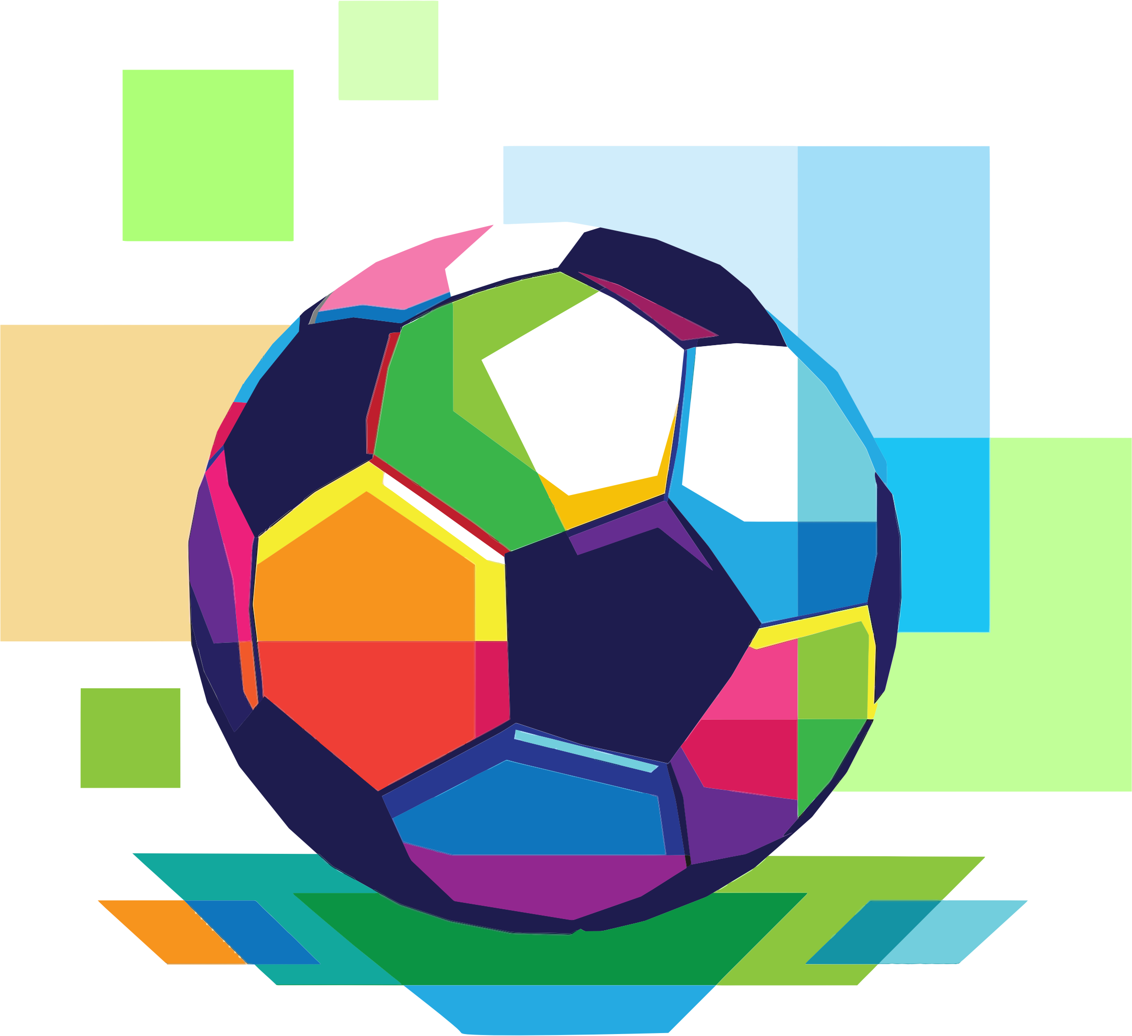 Geometric Football (Soccer) by GDJ