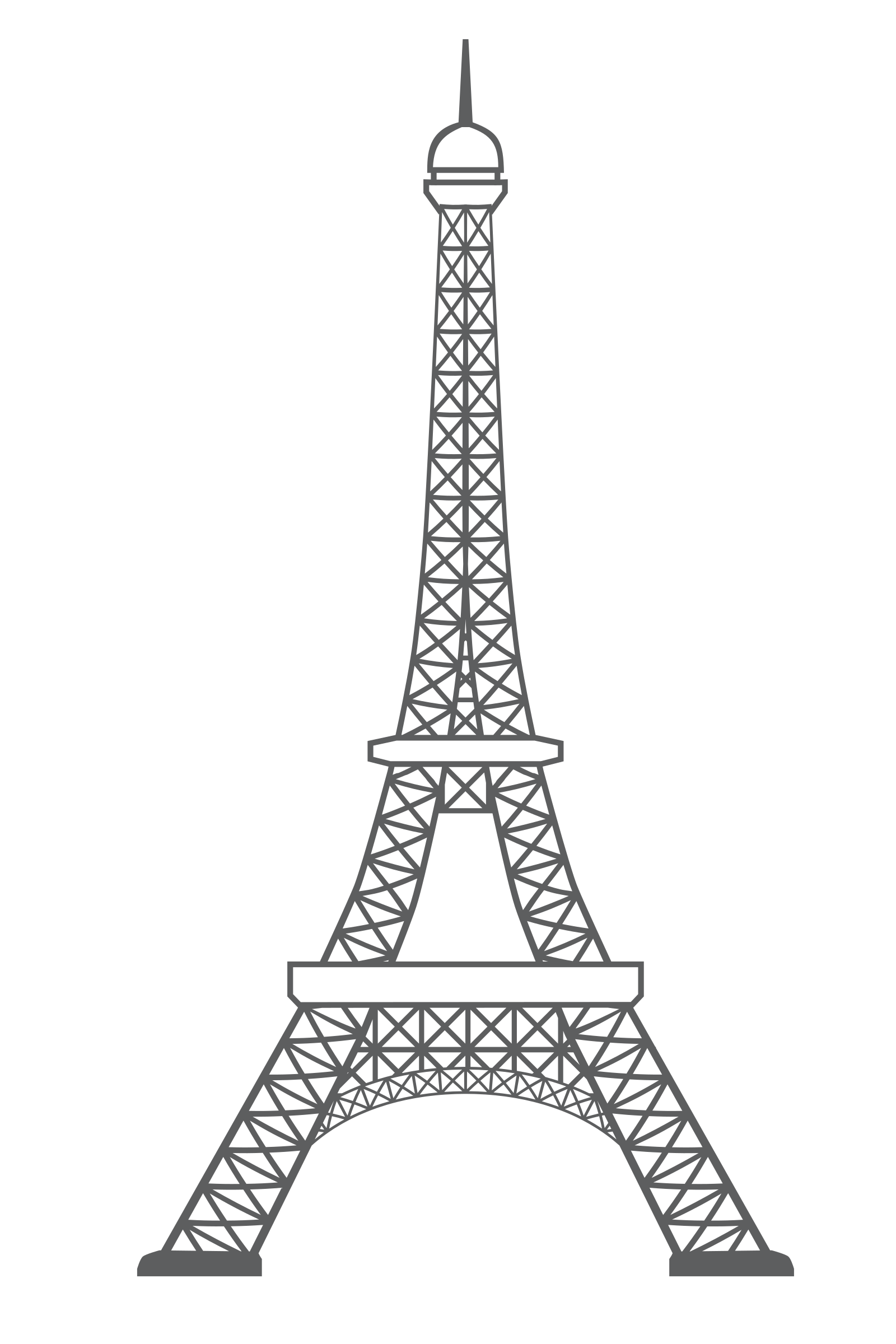 Eiffel tower outline icon monument by monsterbraingames