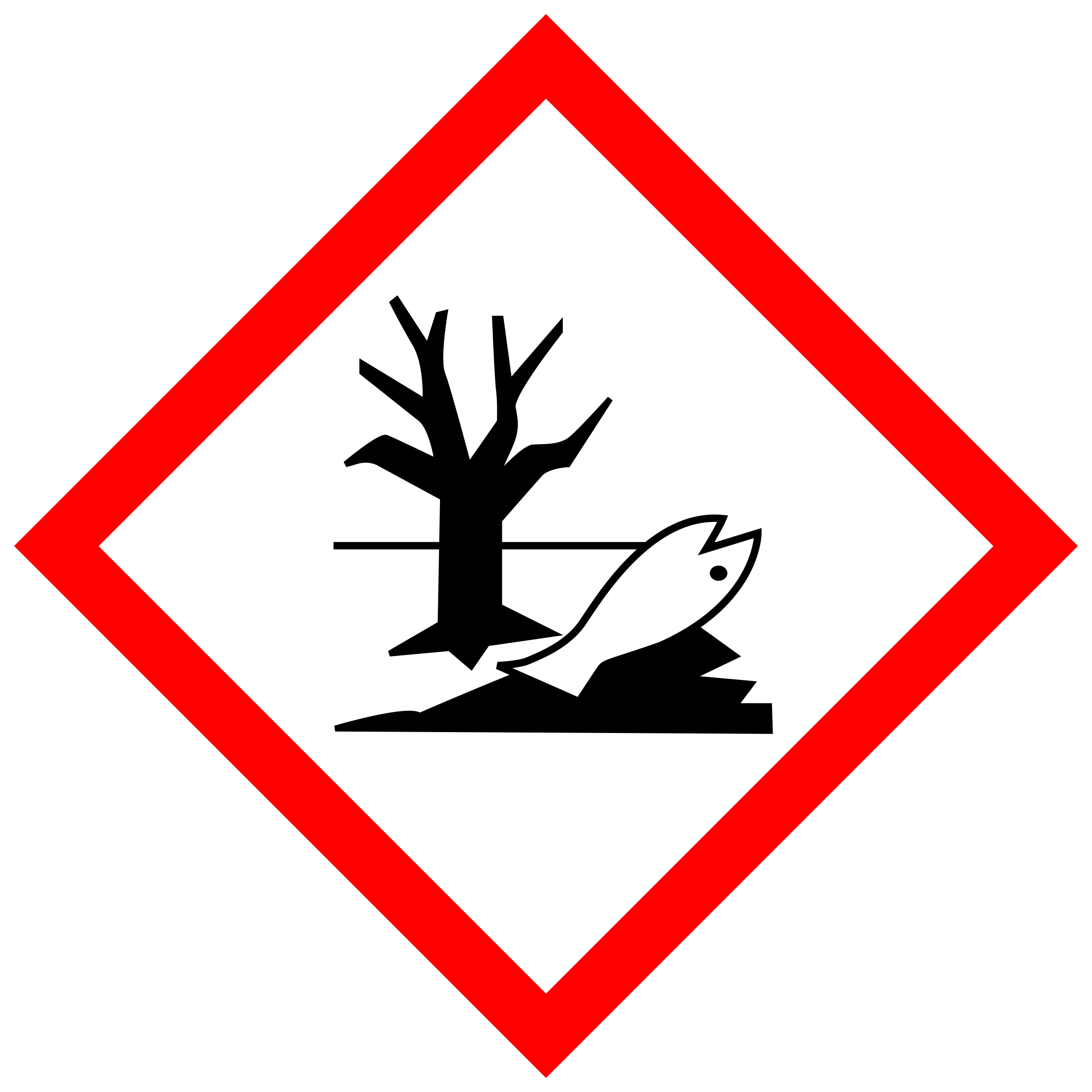 GHS pictogram for environmentally hazardous substances by Juhele