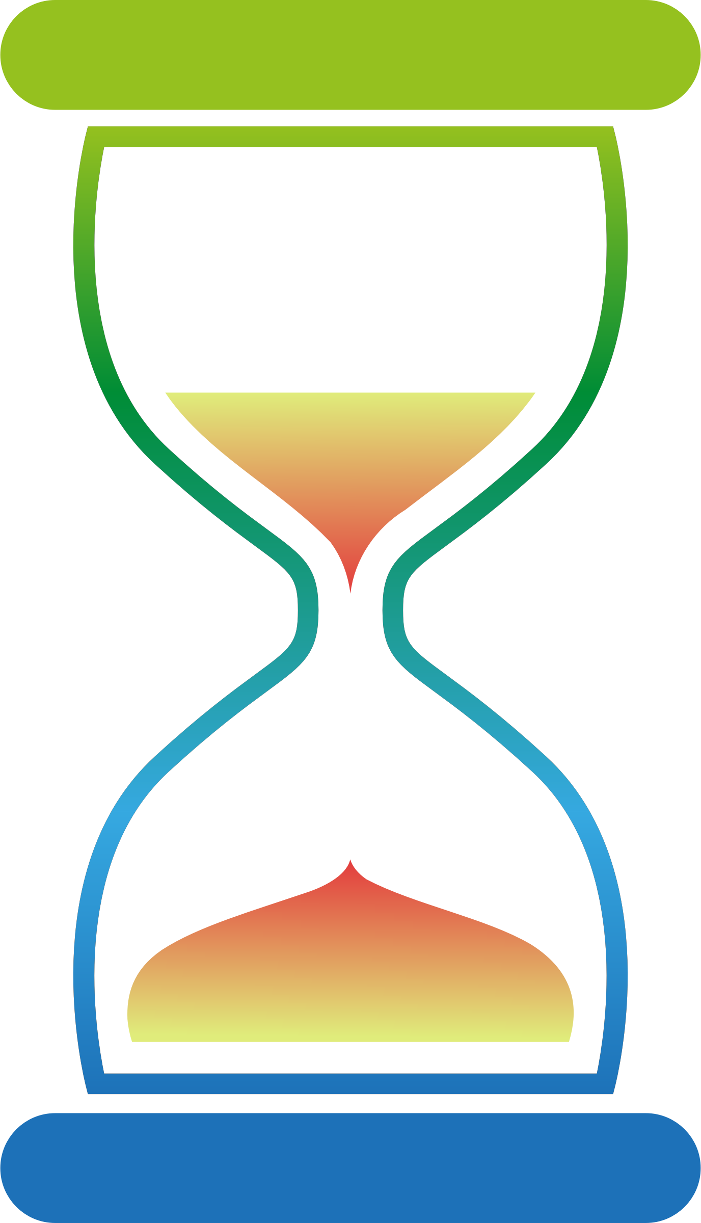 Colourful hourglass 2 by Firkin
