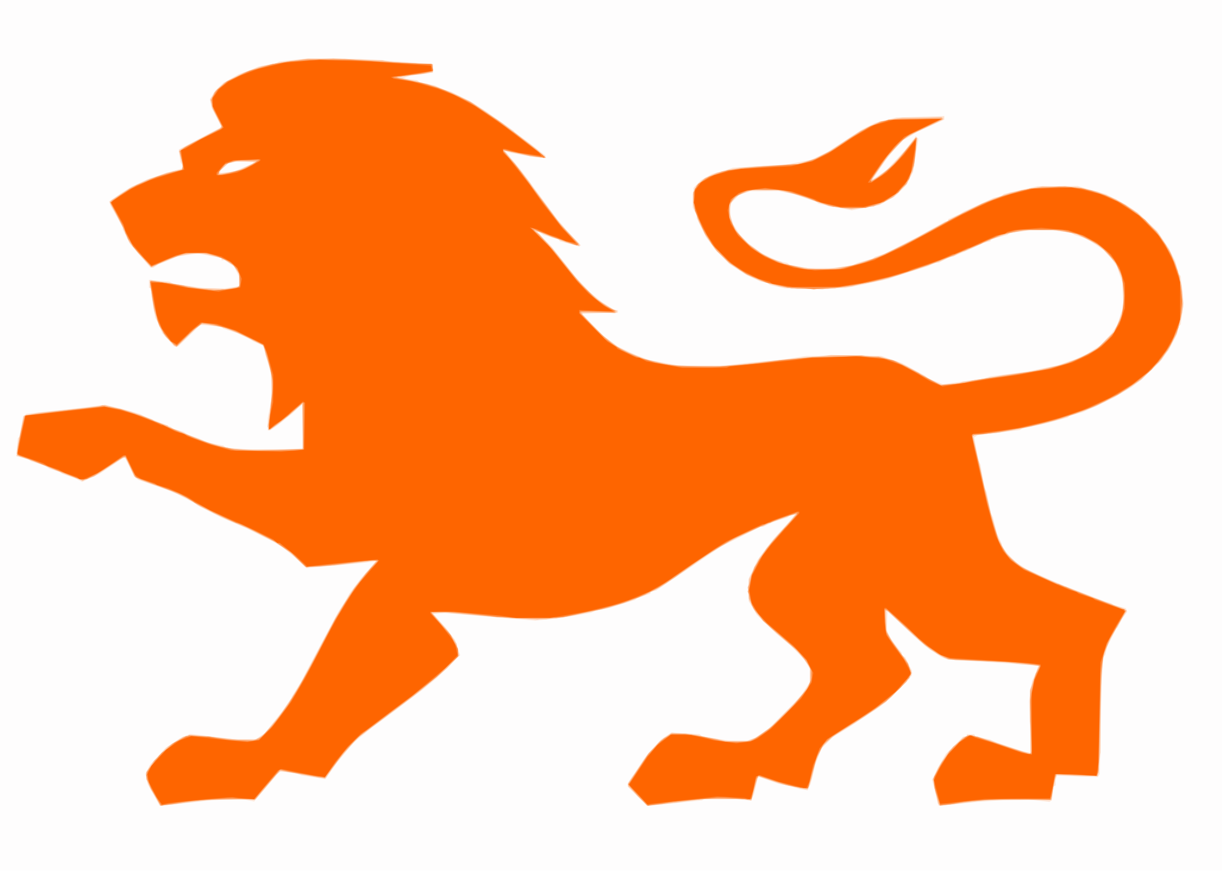 Orange Rampant Lion by Falco276