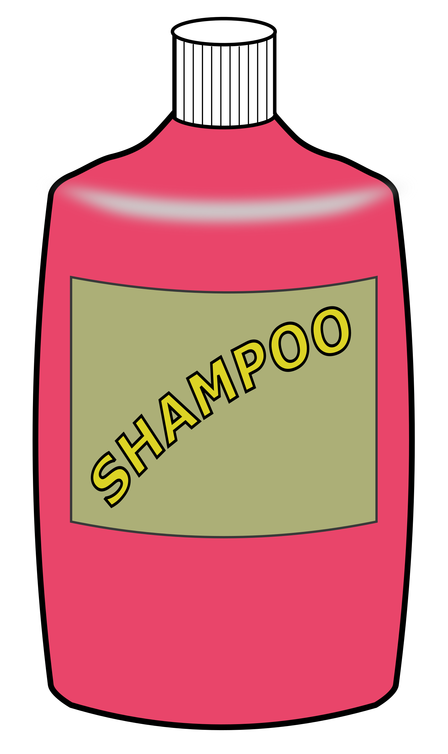 clipart big shampoo bottle rh openclipart org What Are the Sizes of Shampoo Bottles Blue Bottle Shampoo