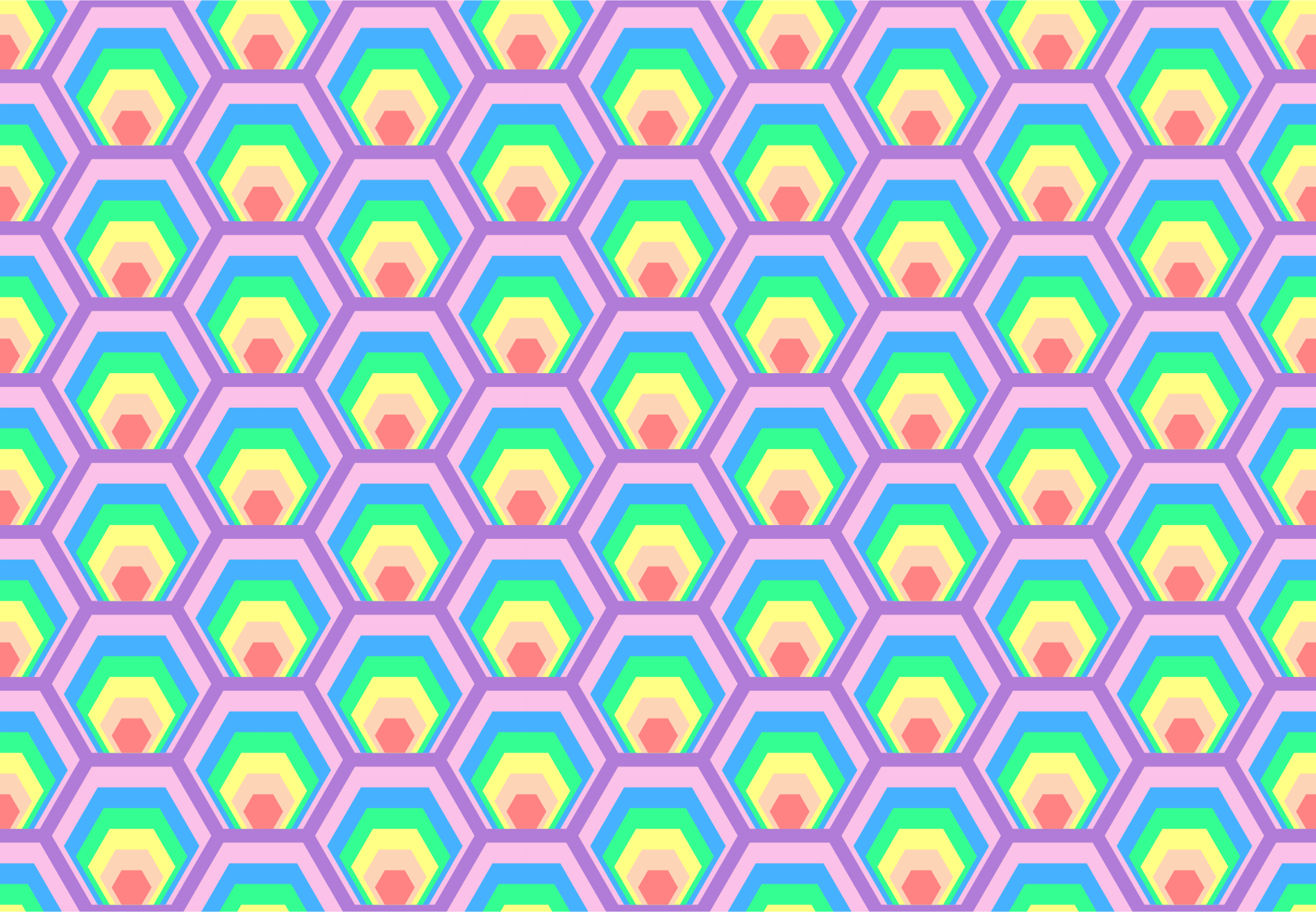 Colourful hexagon pattern (colour 2) by Firkin