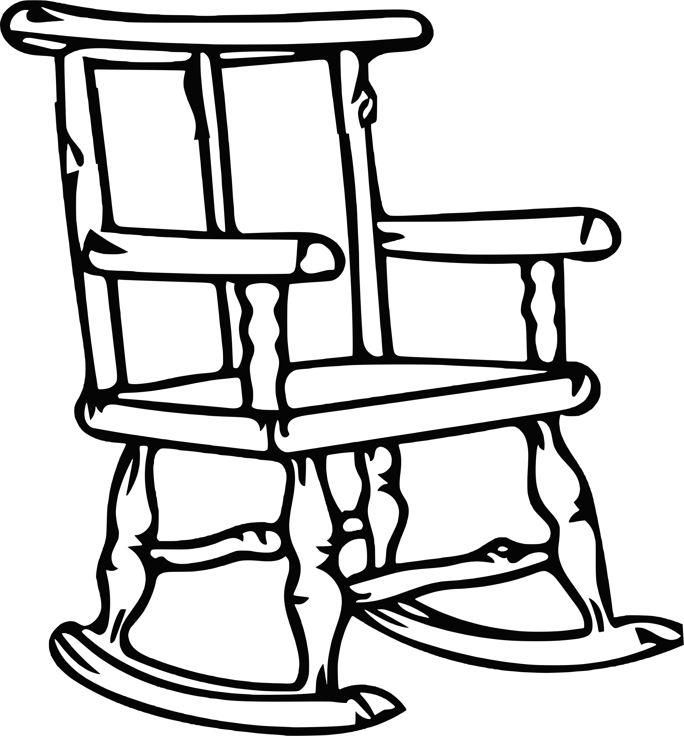 Rocking chair 3 (outline) by Firkin