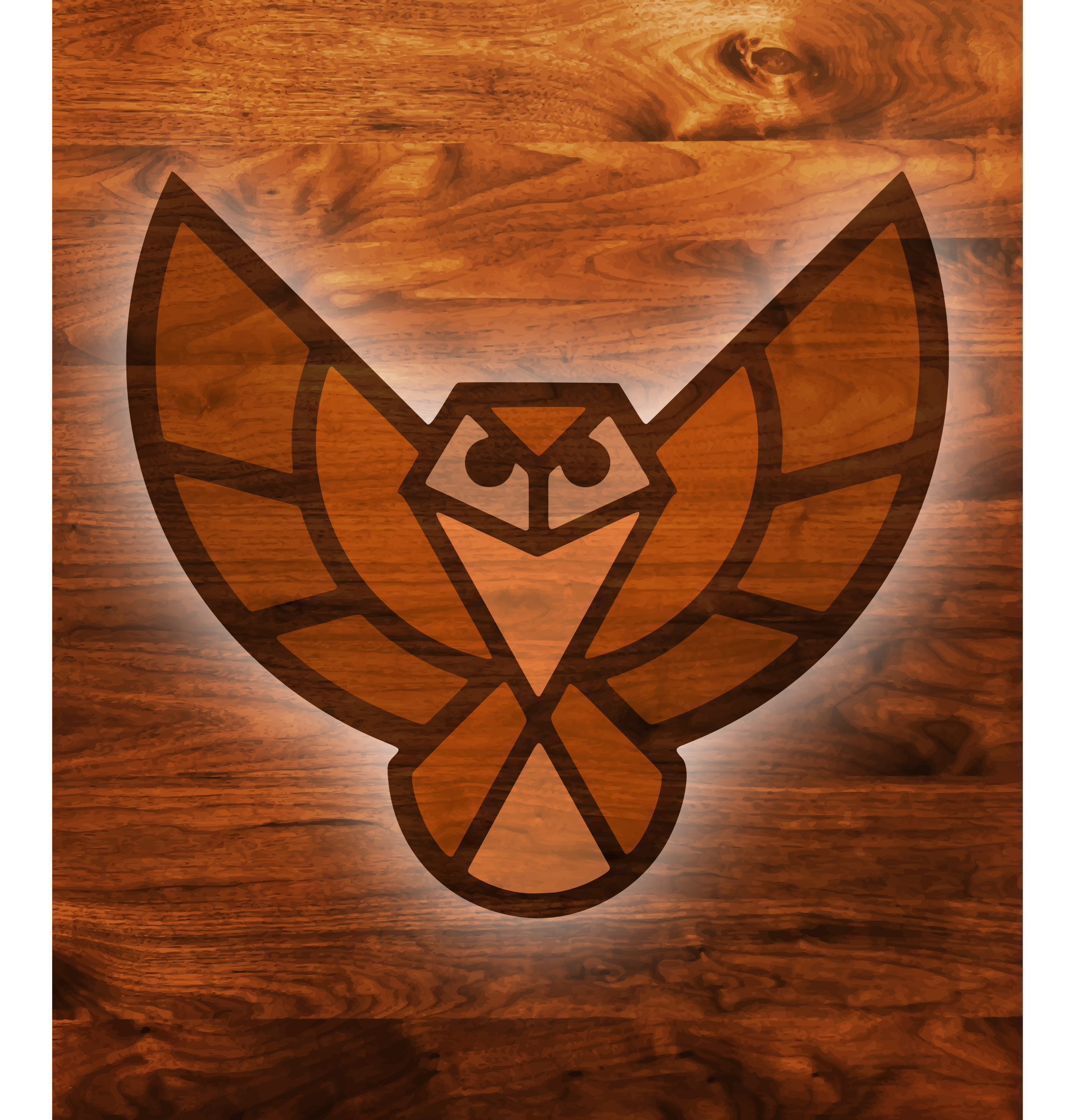Wood texture owl by Firkin