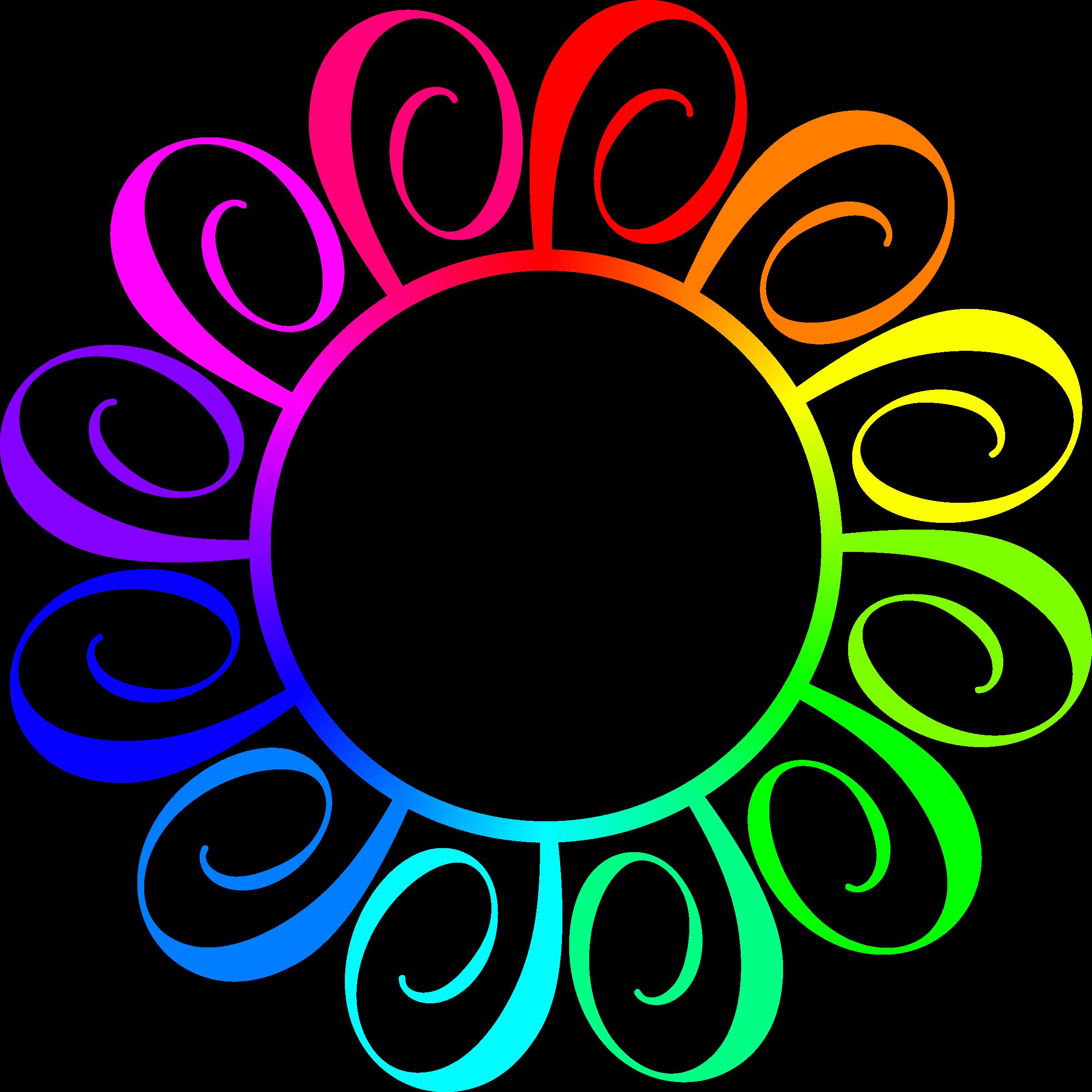 Clipart - Rainbow frame