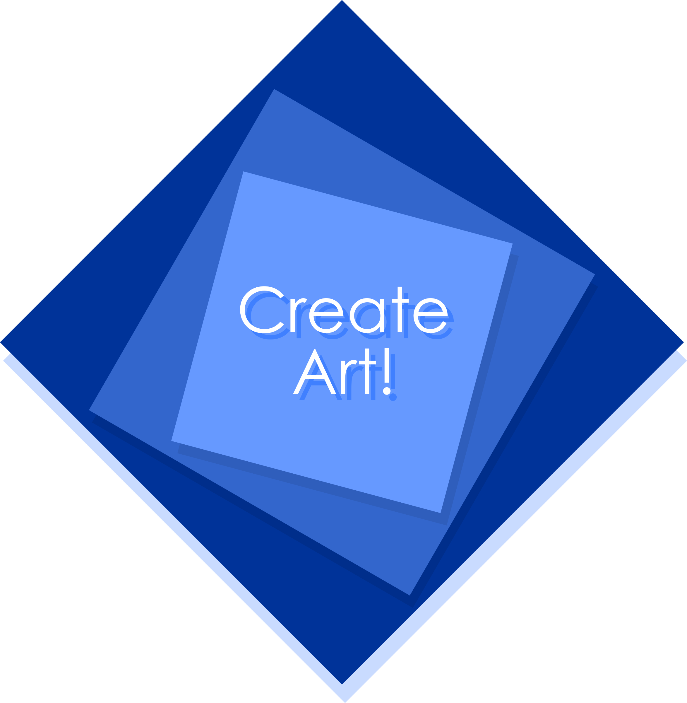 Create art logo squares generic by monsterbraingames