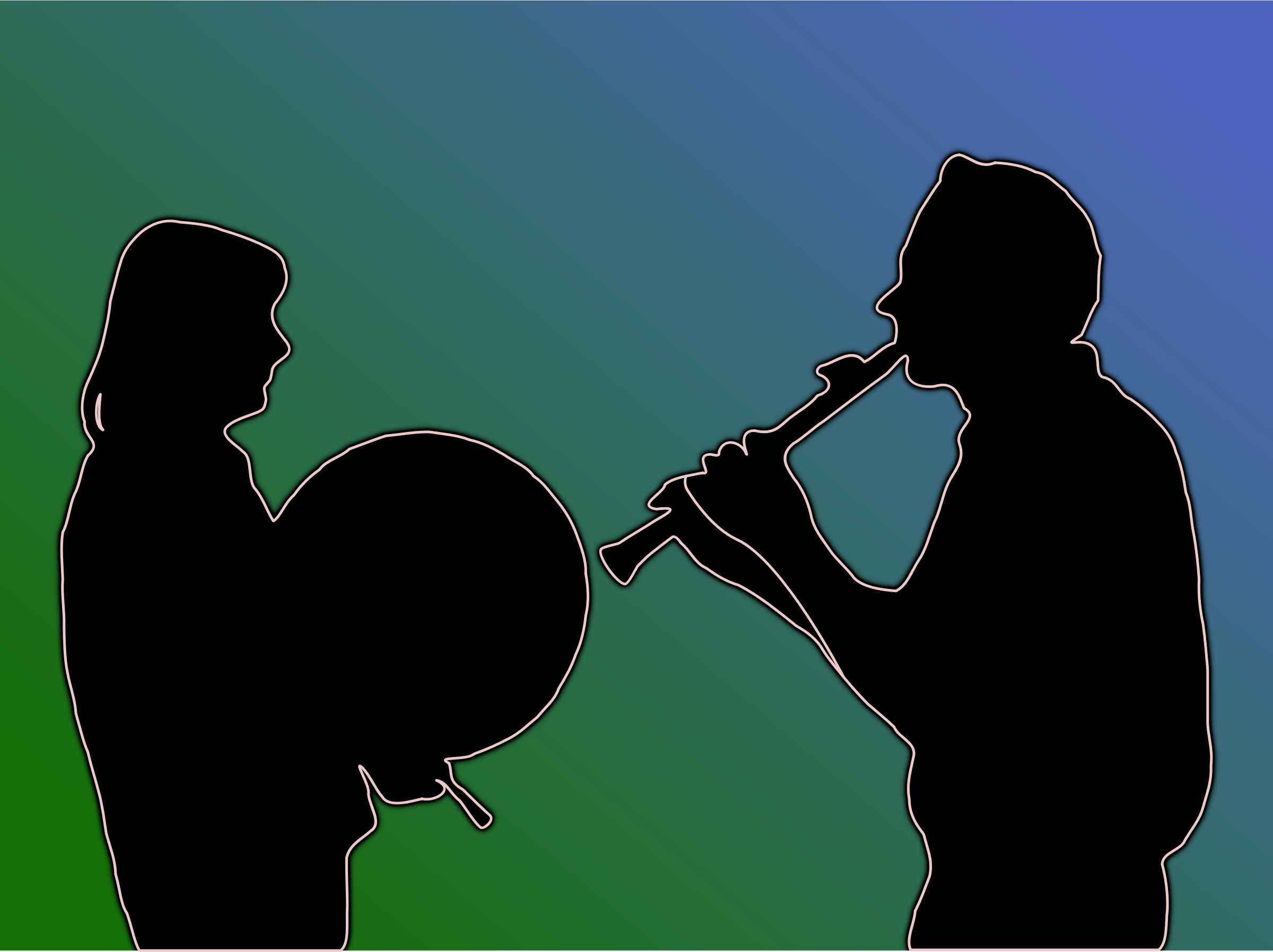 Two Folk Musicians by Greg.M