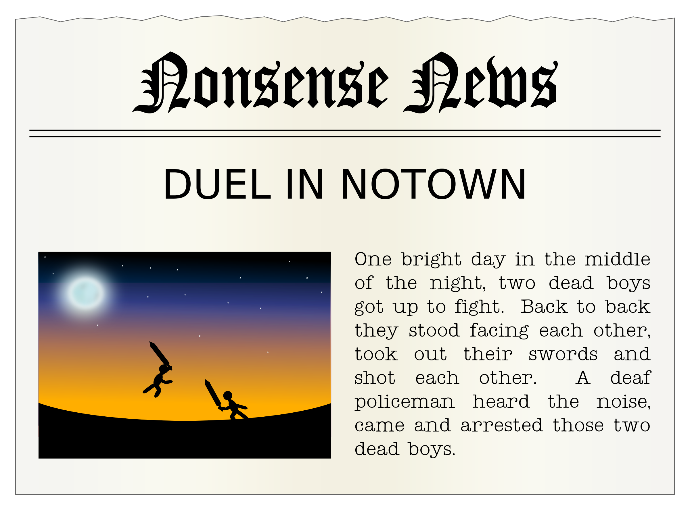 Nonsense News by Arvin61r58