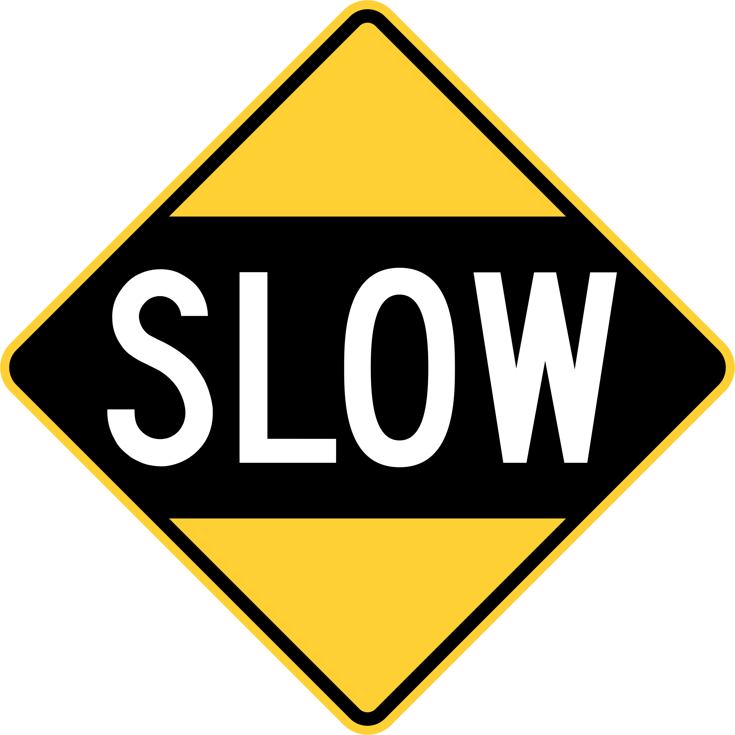 Drive Slowly Sign (Obsolete, U.S.A.) by jonathan357