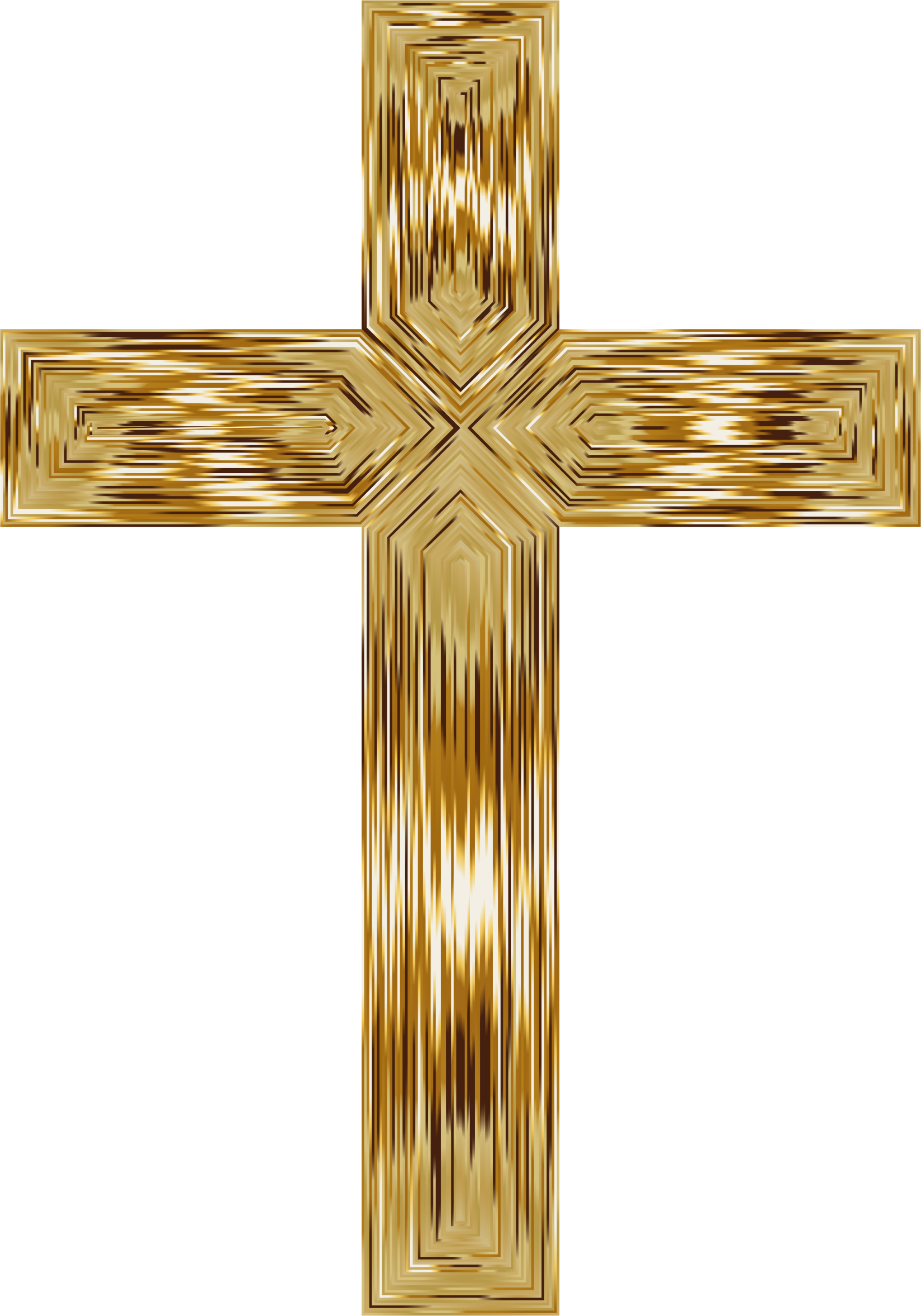 Gold Cross Intersect by GDJ