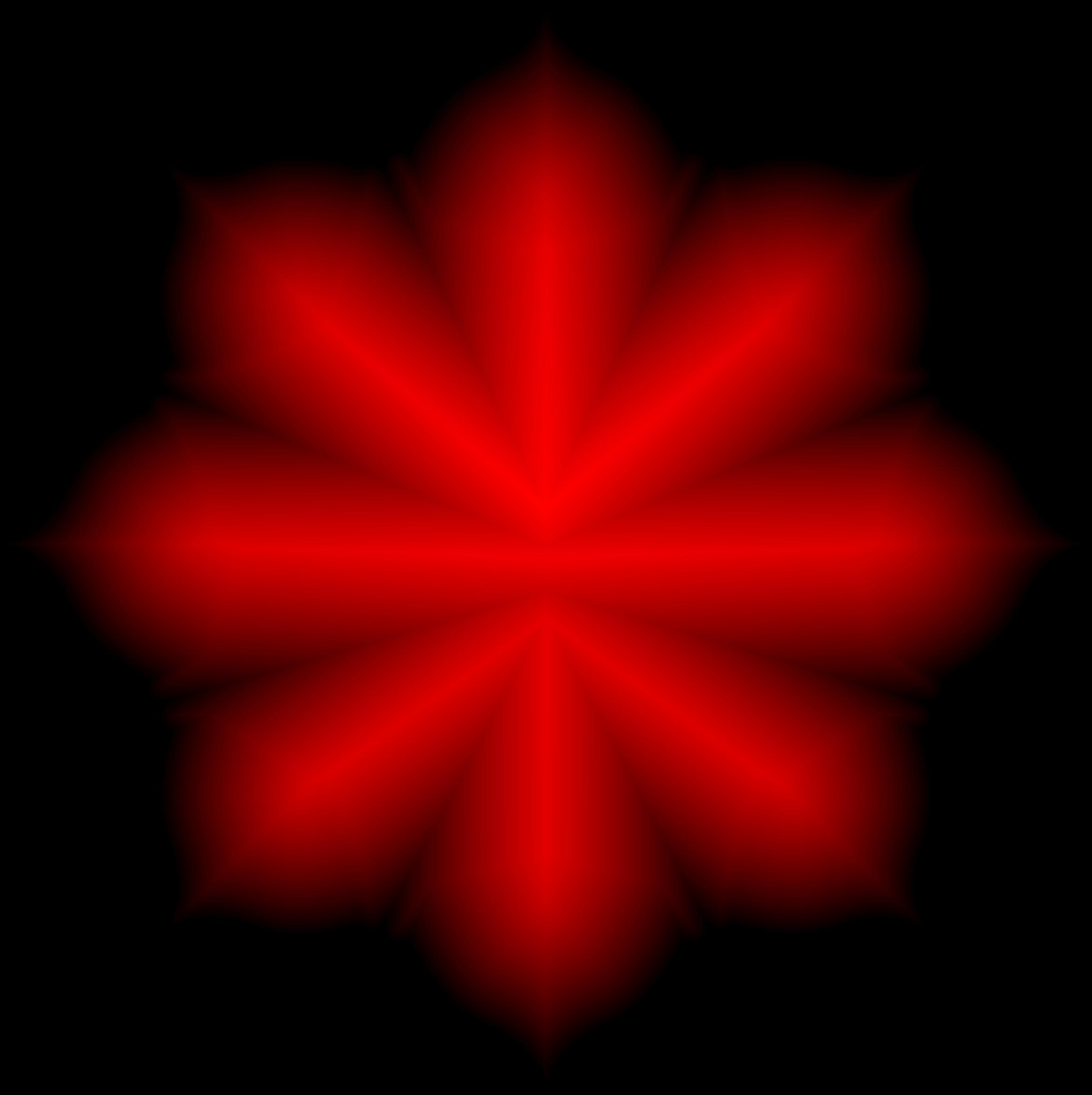 Clipart Floral Lotus Shape Crimson