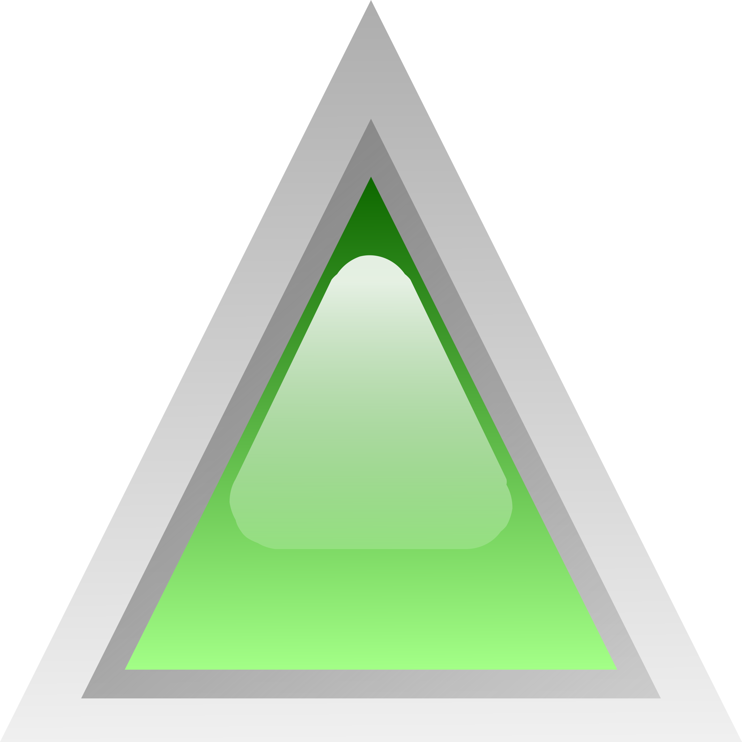 led triangular green by Anonymous