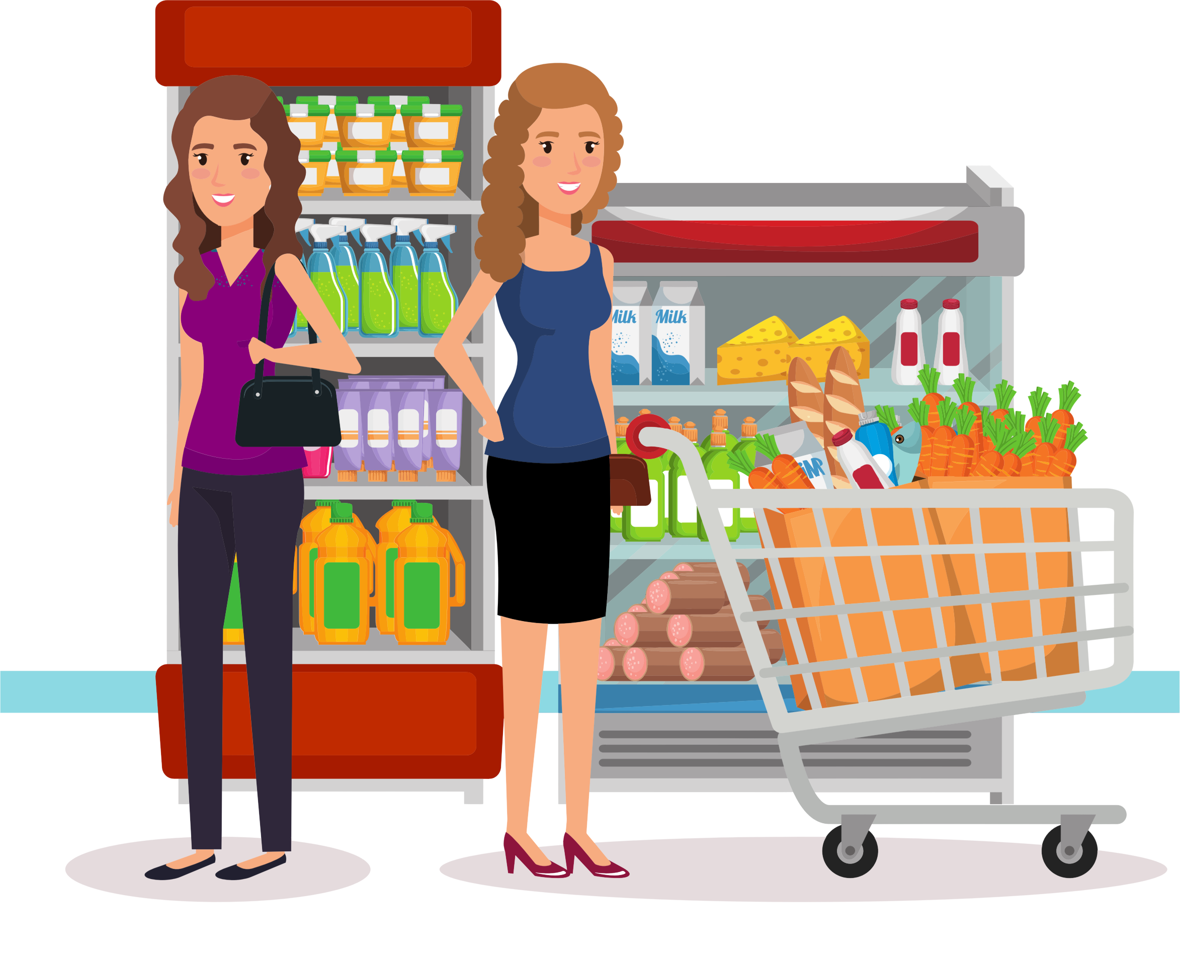 Two Women At The Supermarket by GDJ