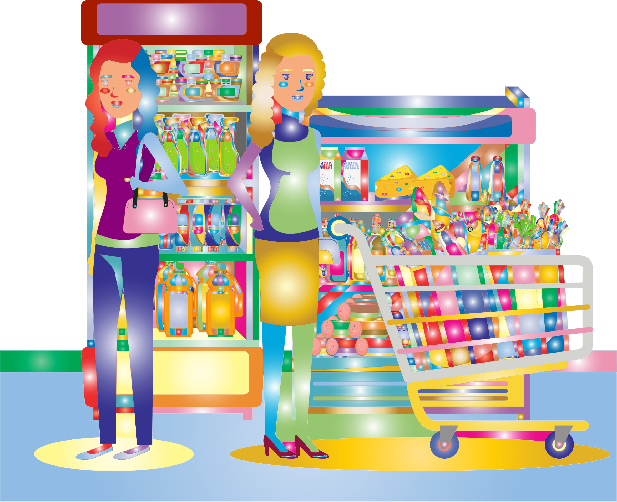 Two Women At The Supermarket Surreal by GDJ