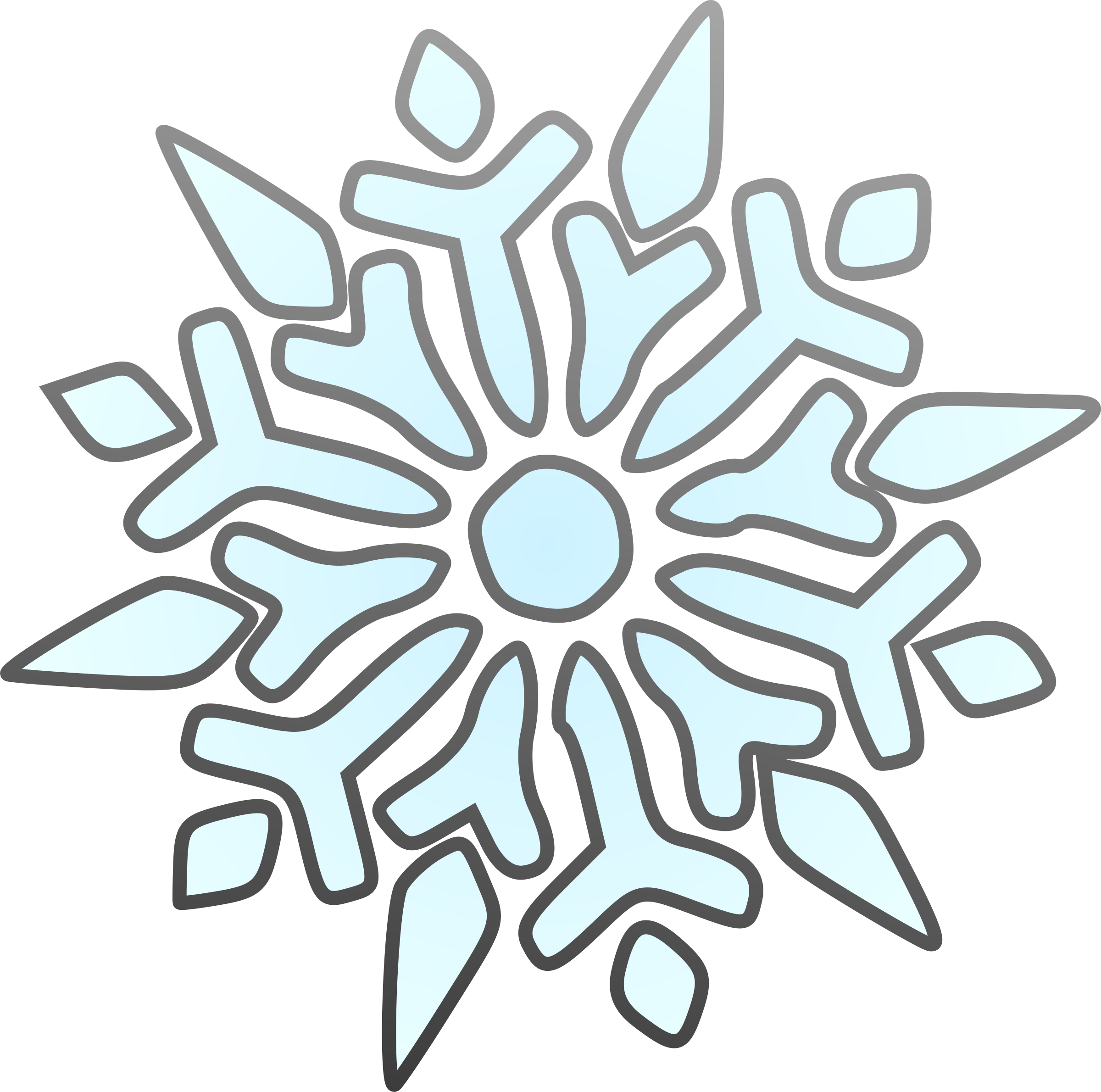 Single Snowflake by erik_