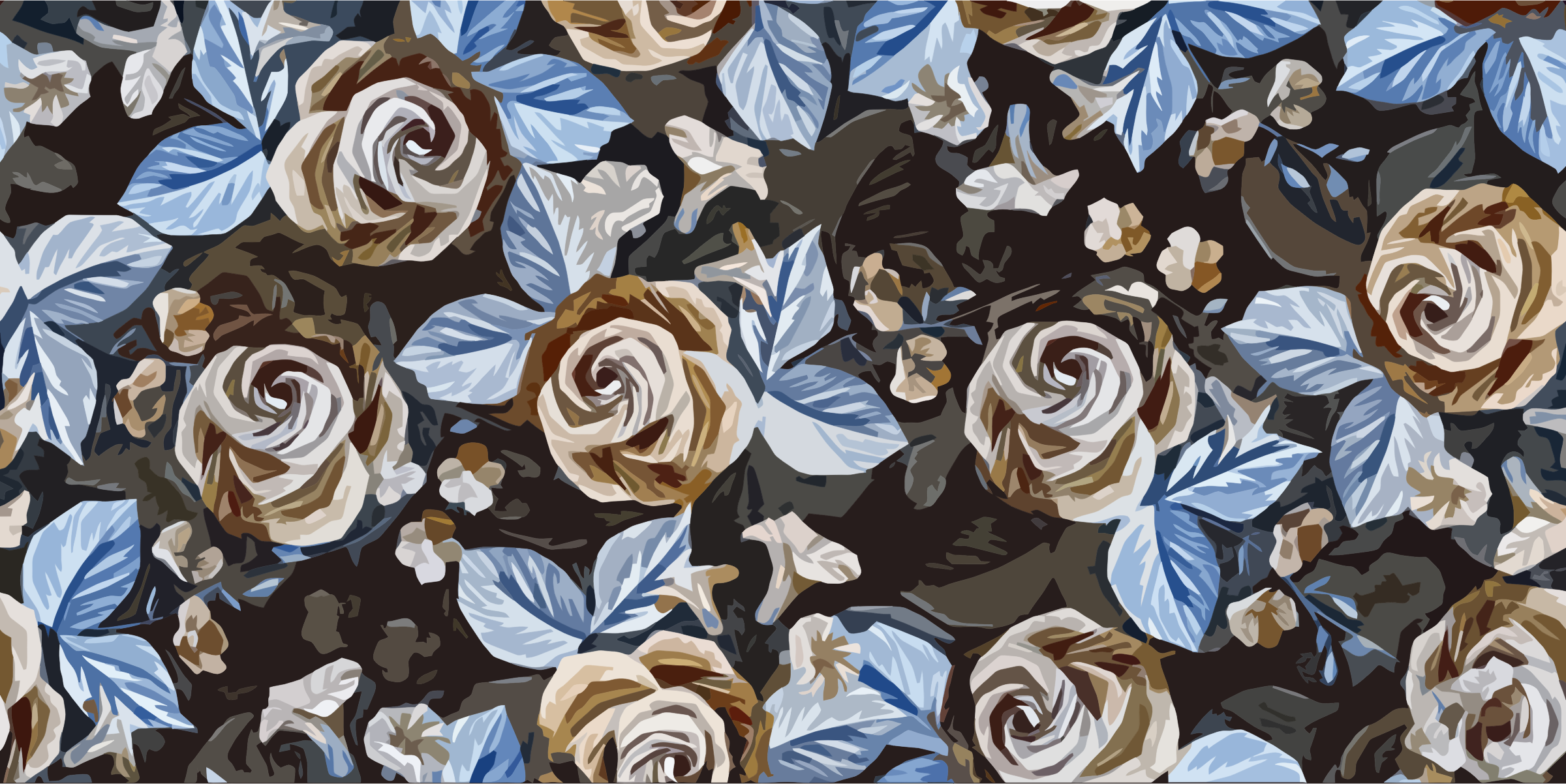 Floral Roses Background by GDJ