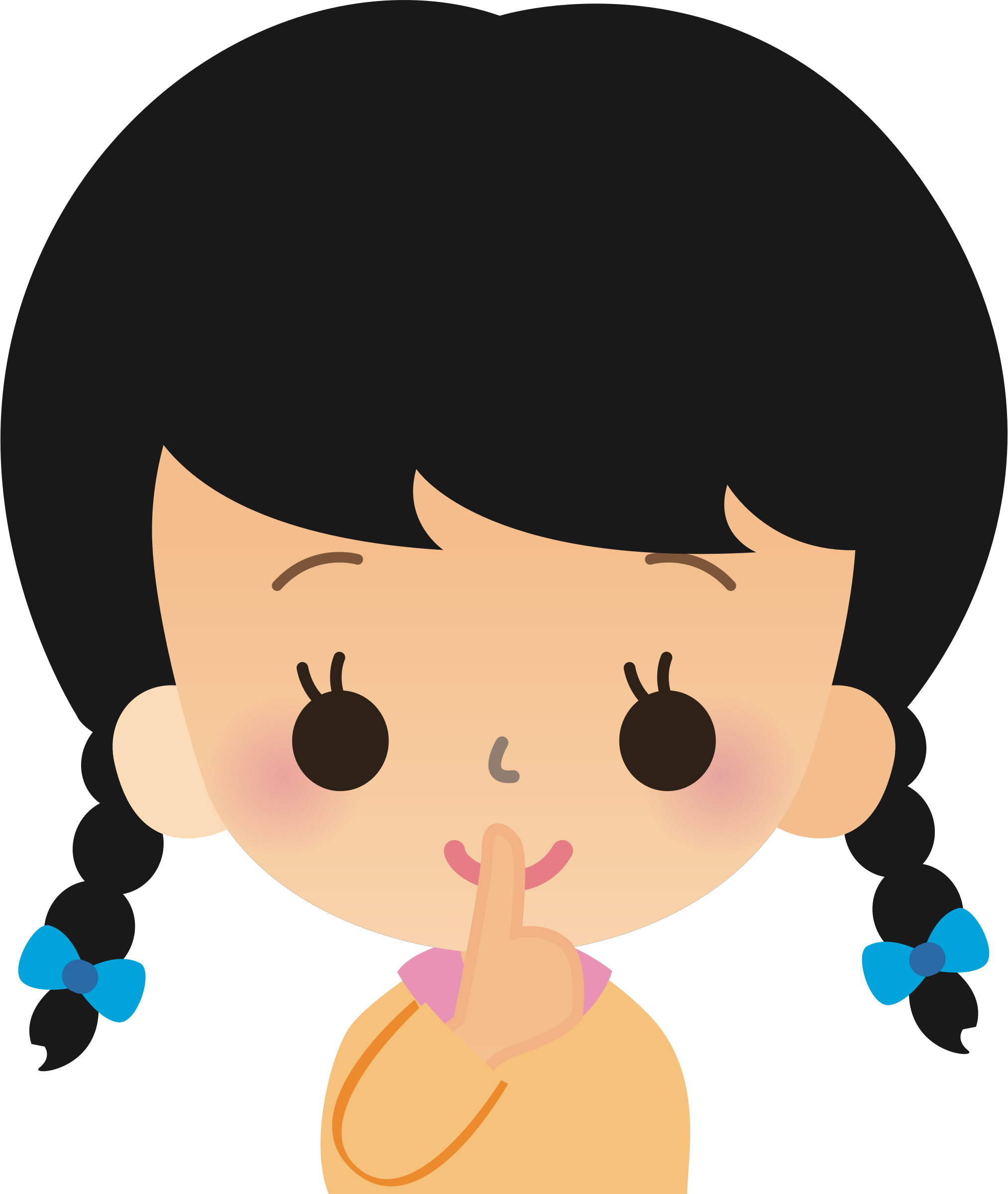 clipart shhh   3 female clipart image female clipart for backgrounds