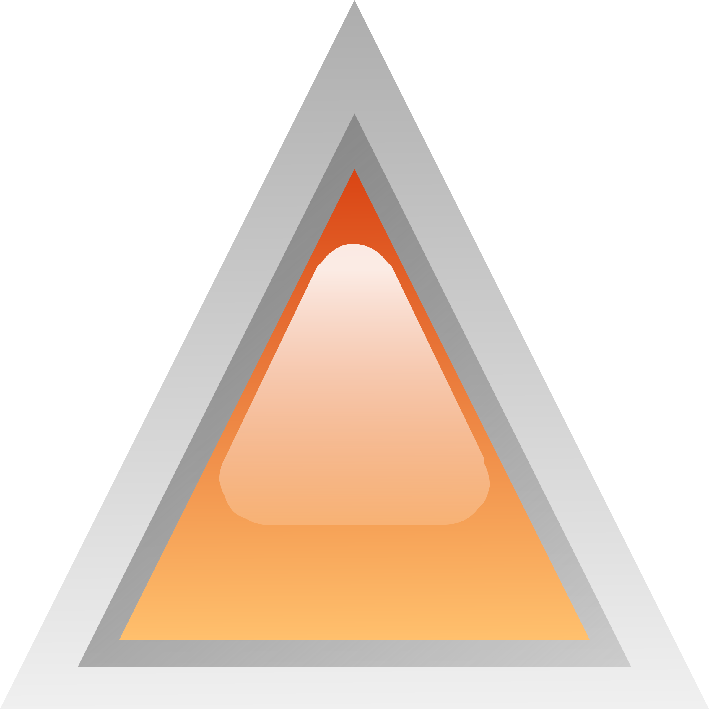 led triangular orange by Anonymous