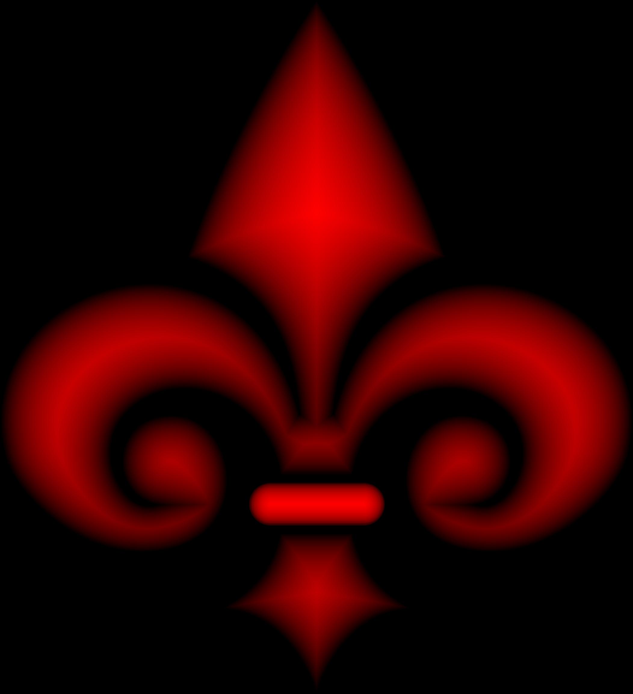 Clipart Fleur De Lis 3d Crimson