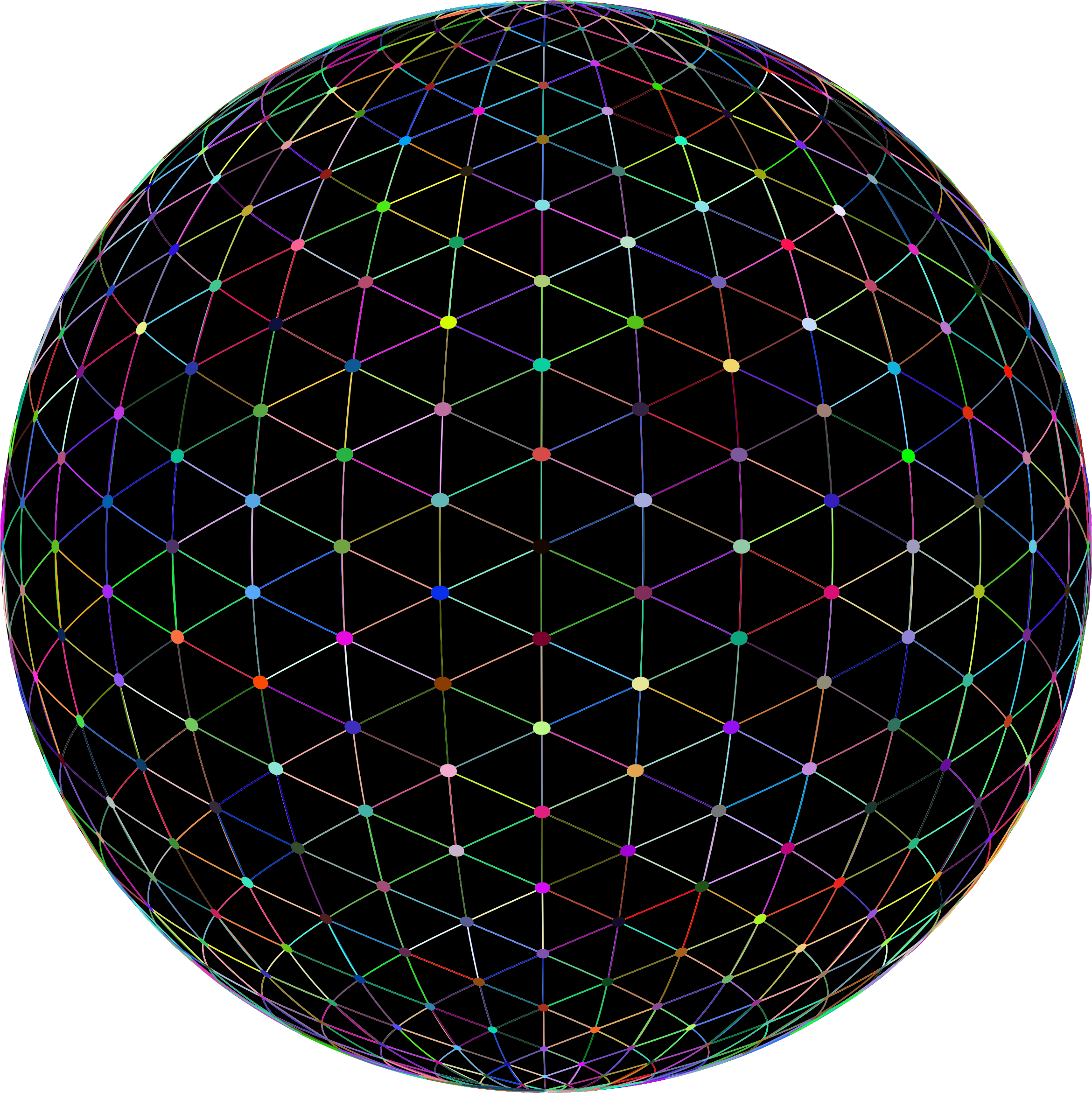Network Sphere Prismatic by GDJ