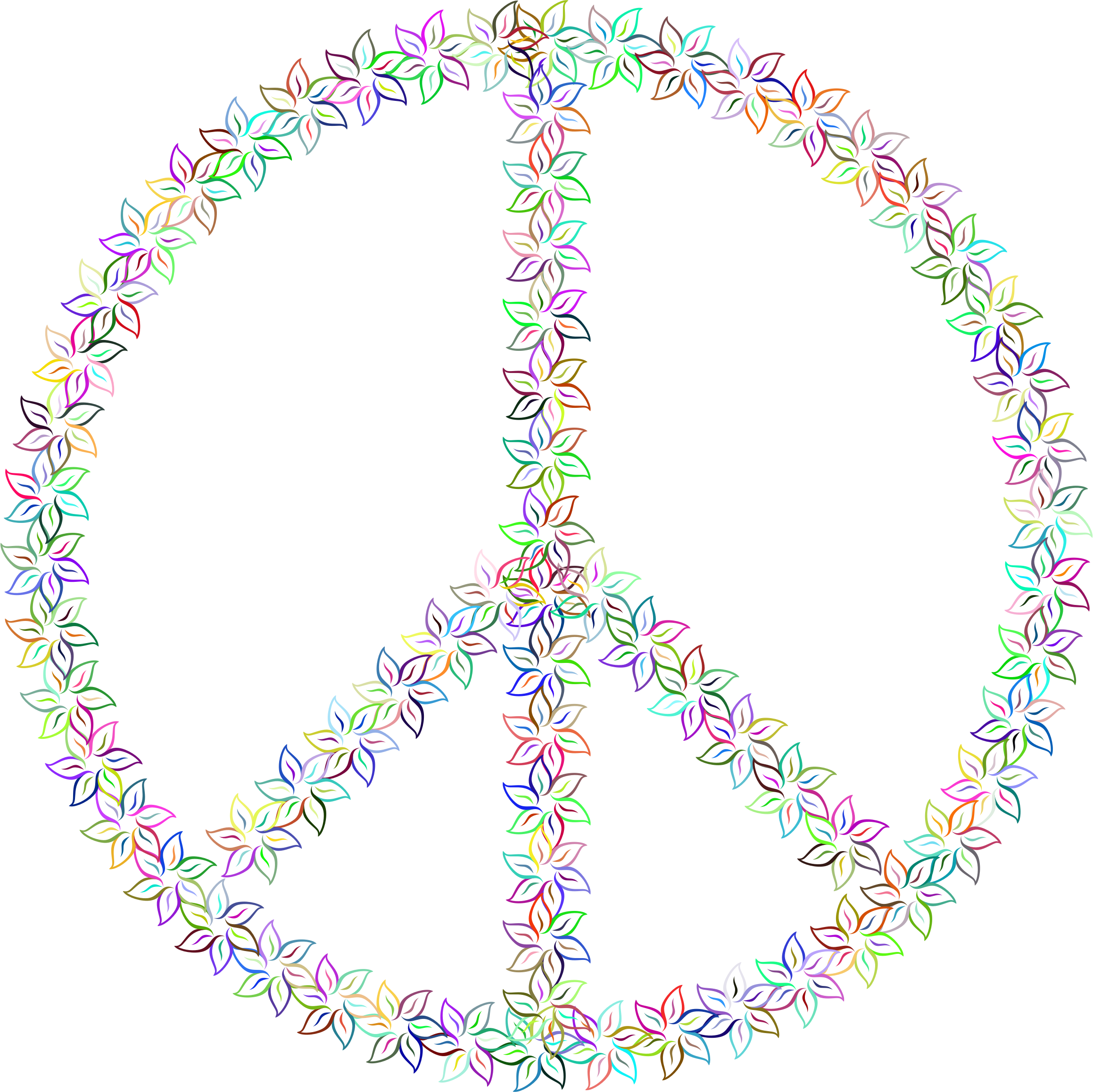 Floral Peace Sign Prismatic by GDJ