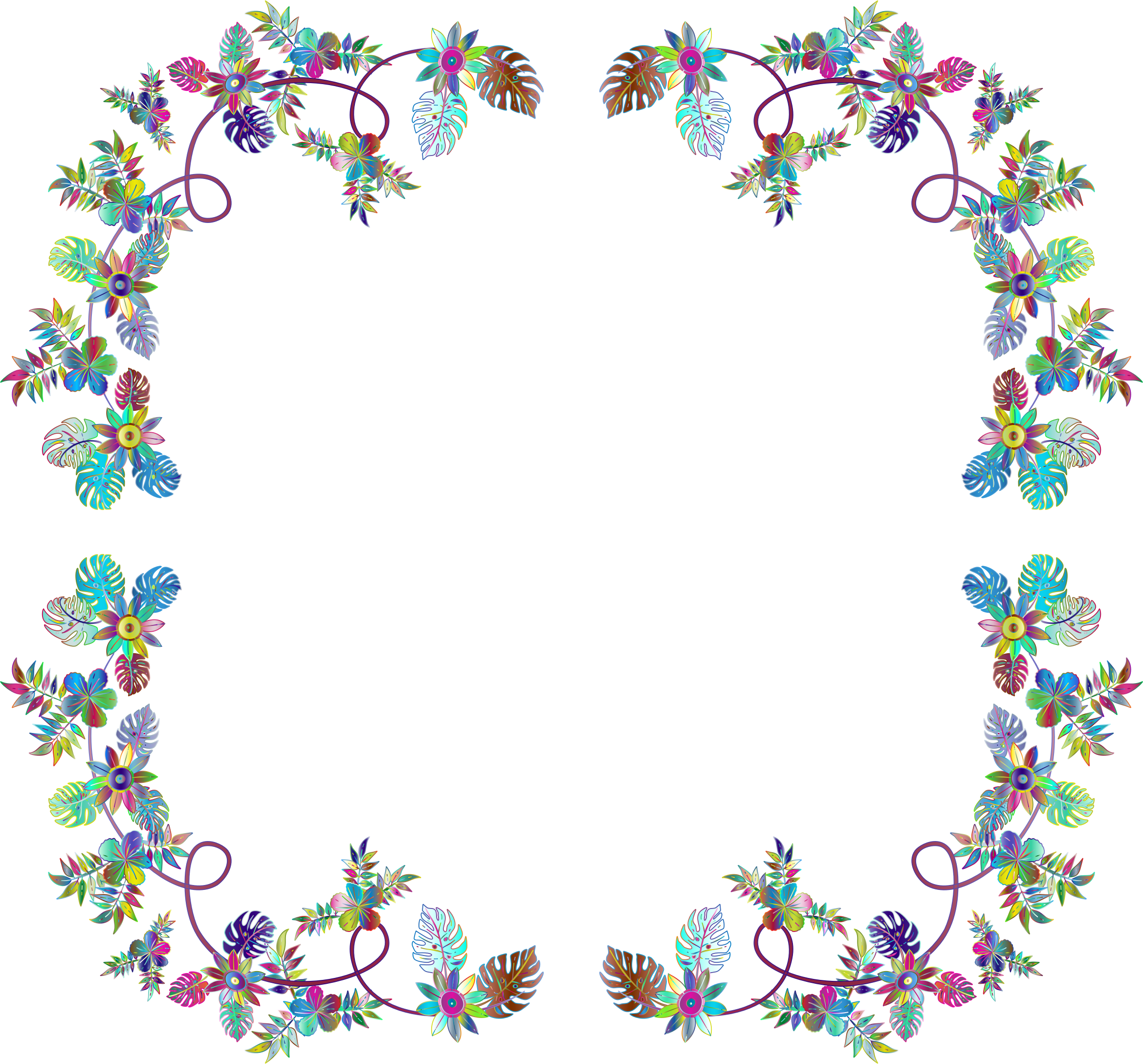 Flower Decoration By FractalBee Prismatic Frame by GDJ