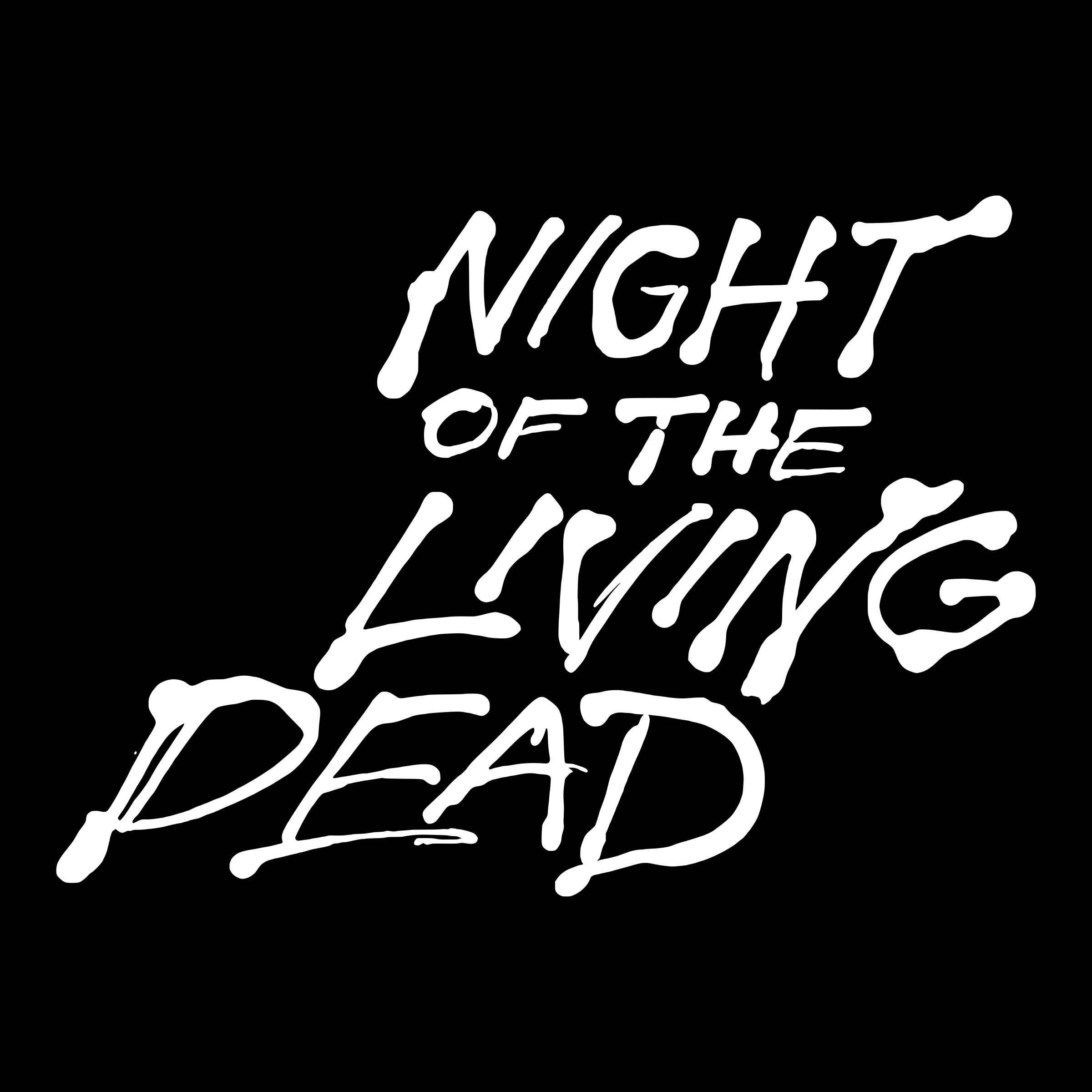 Night of the living dead title screen detail by Lazur URH
