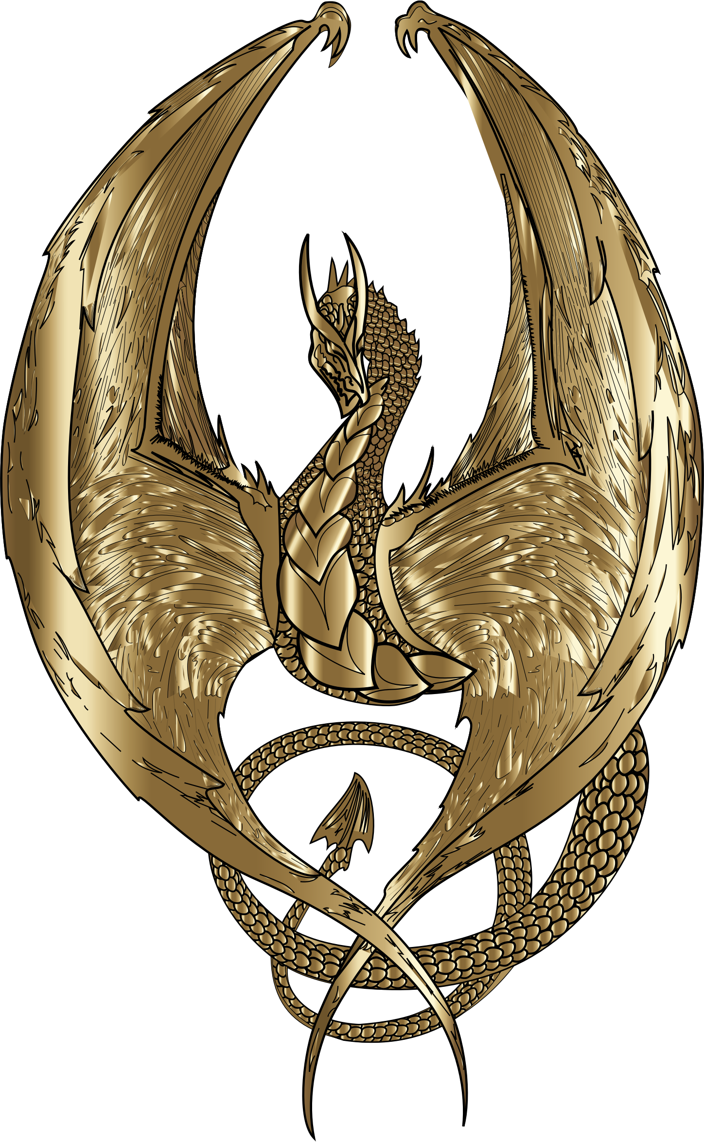 clipart gold wyvern wings clipart black and white wing clipart images