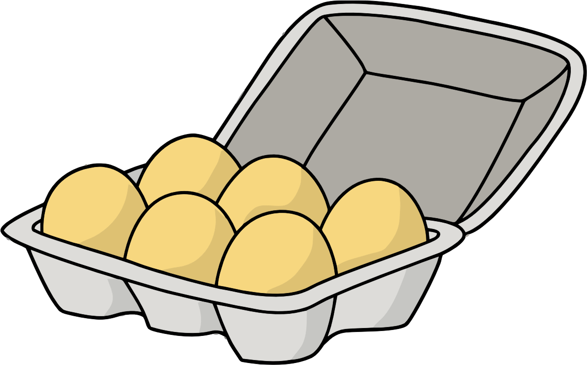 Half Dozen Eggs Open Carton by jonathan357