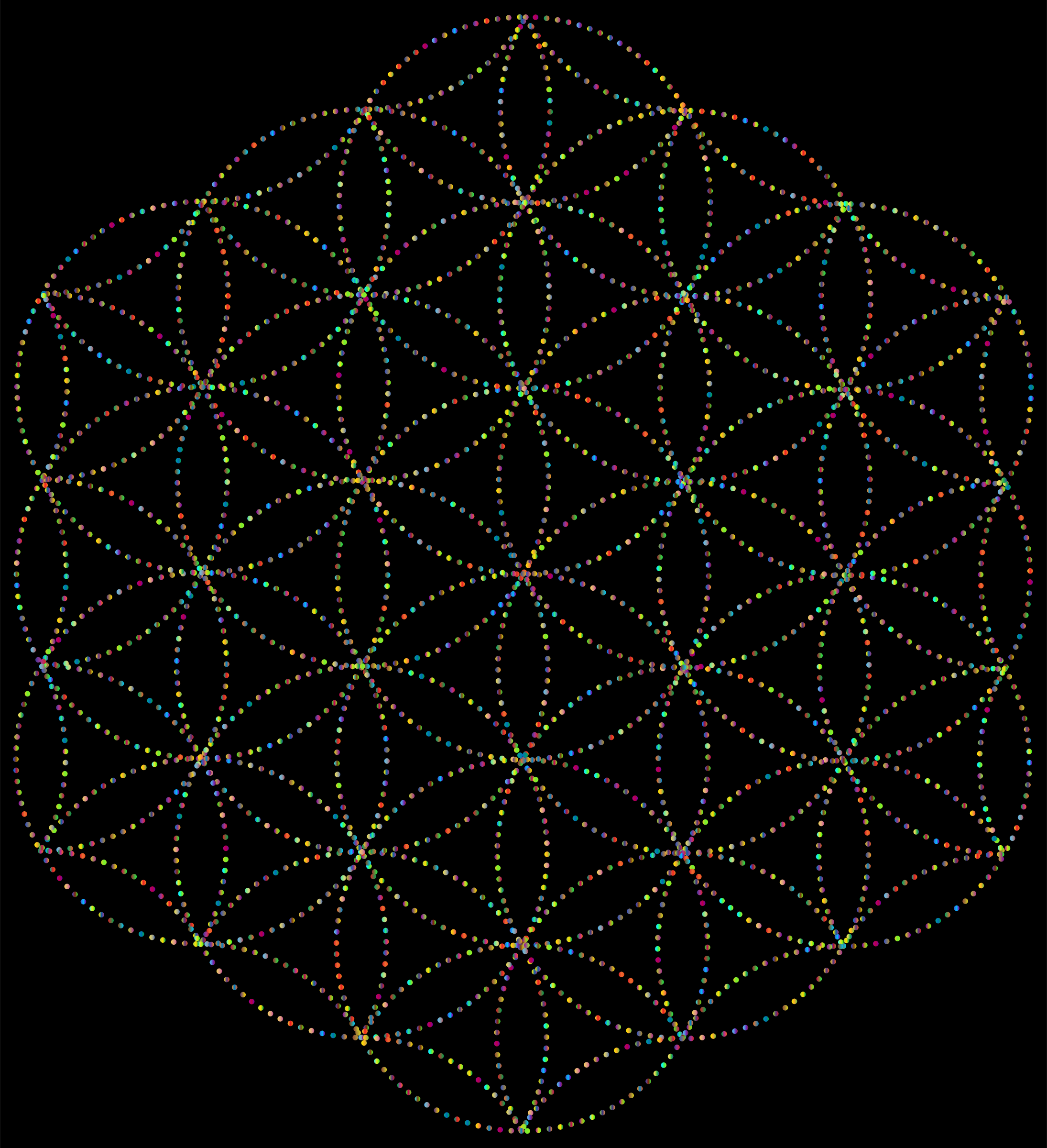 Flower Of Life Dots Prismatic by GDJ