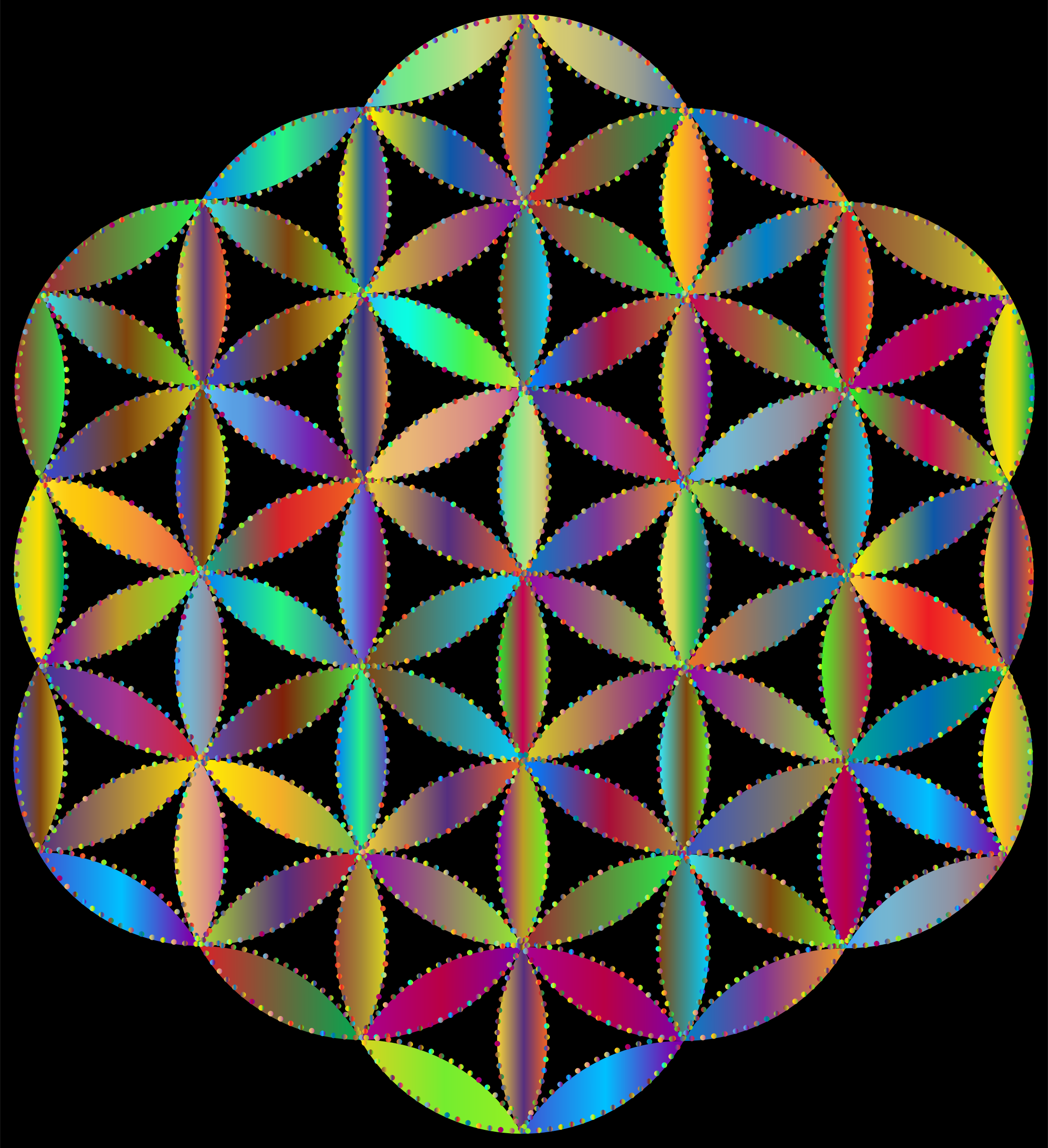 Flower Of Life Dots Prismatic 2 by GDJ