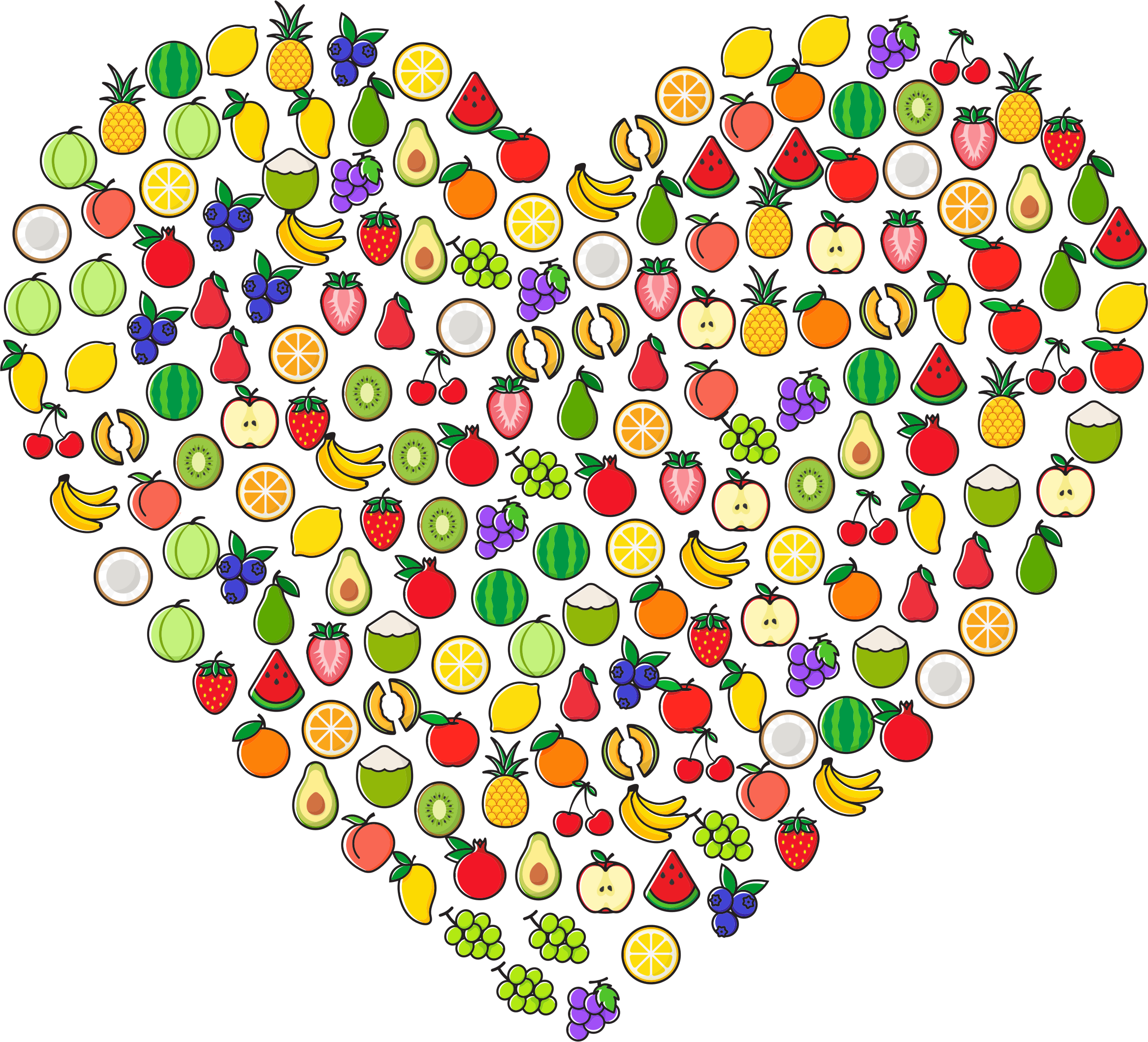 Fruit Icons Heart by GDJ