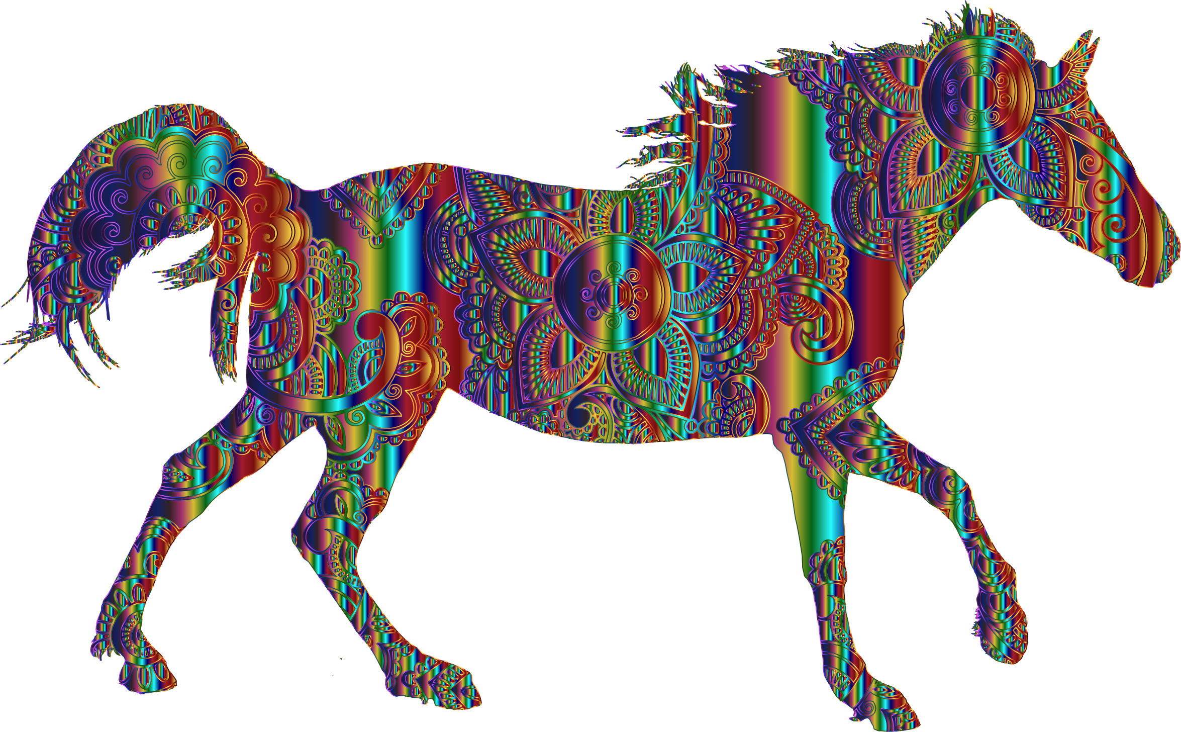 Decorated Horse Psychedelic by GDJ