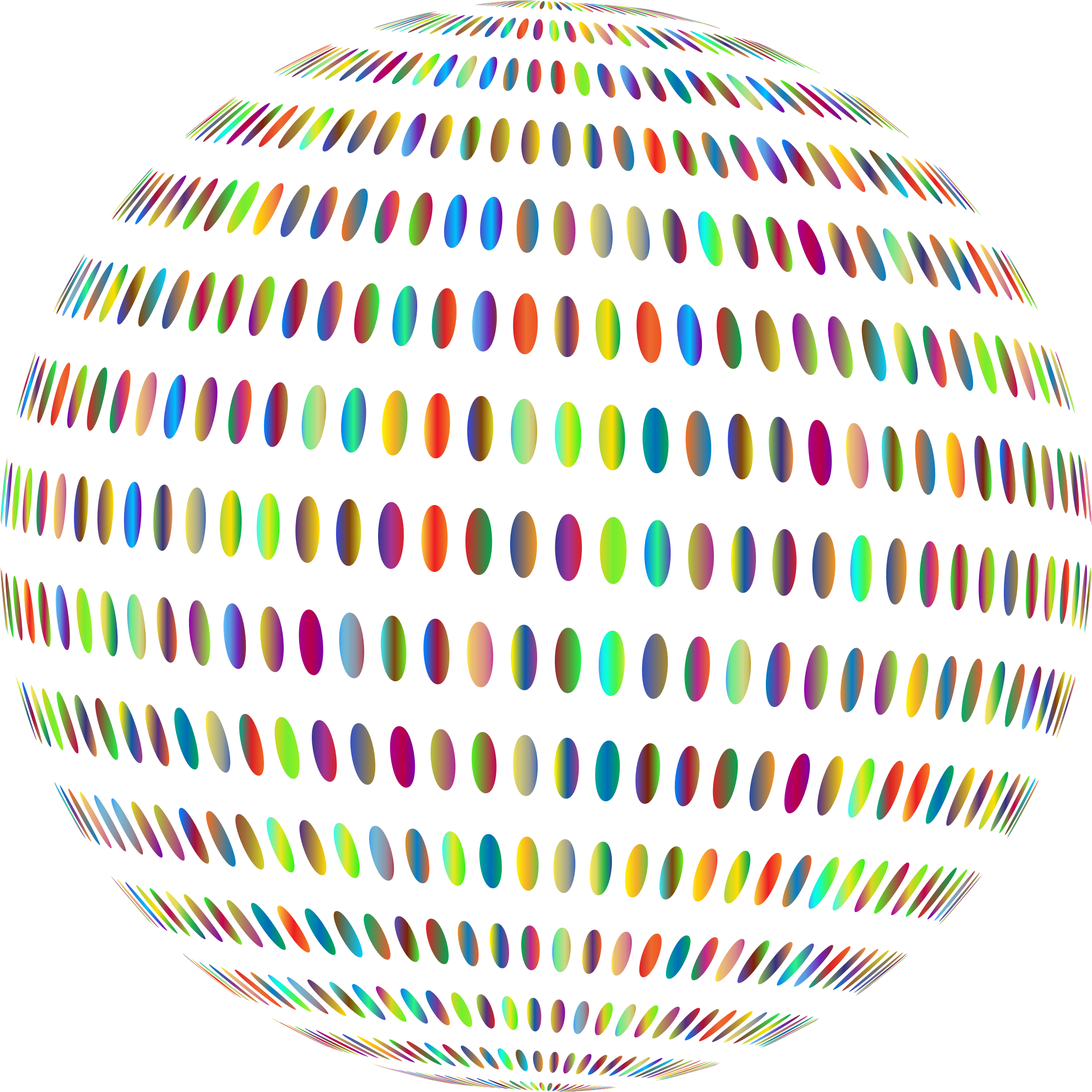 Spiral Circles Sphere Polyprismatic by GDJ