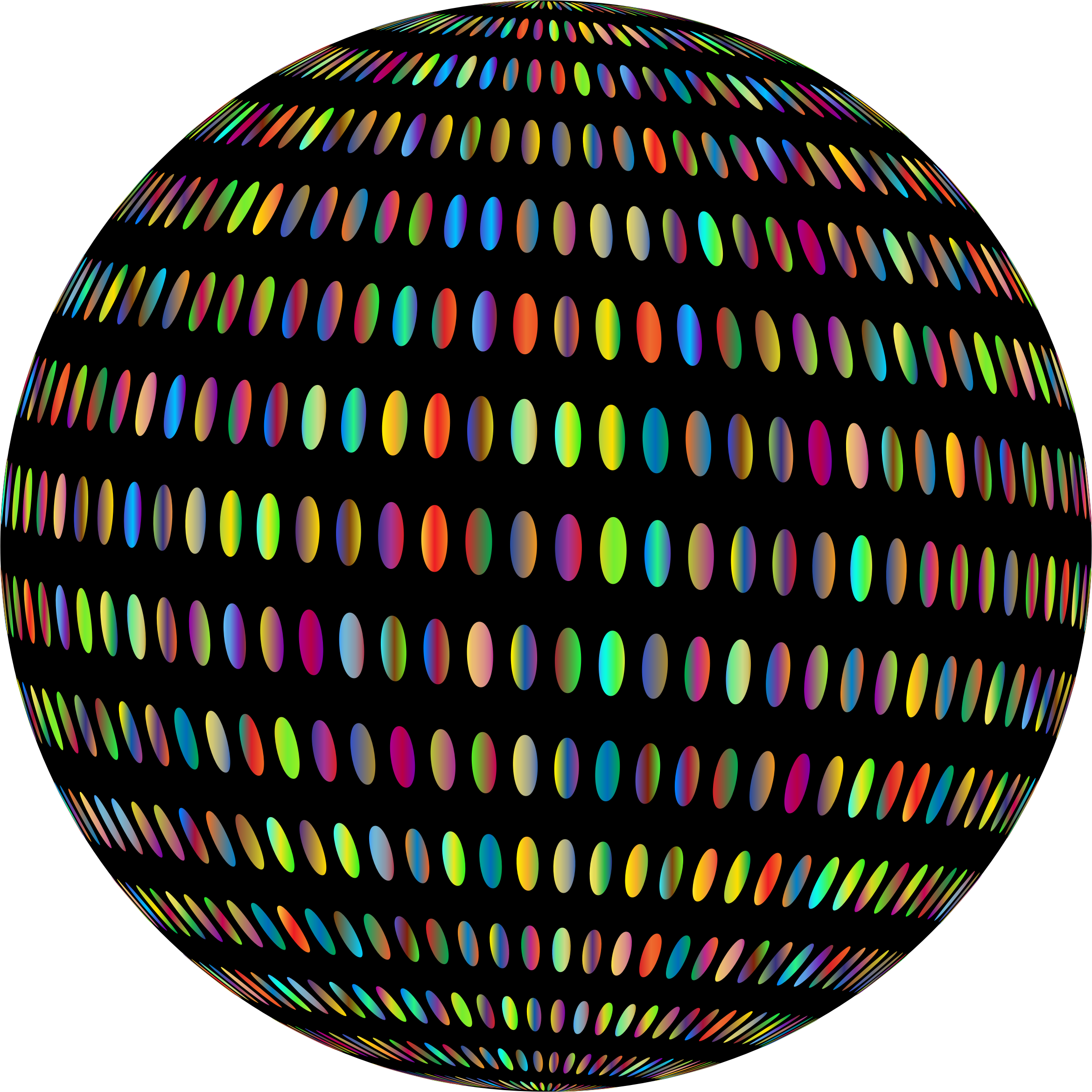 Spiral Circles Sphere Prismatic With BG by GDJ