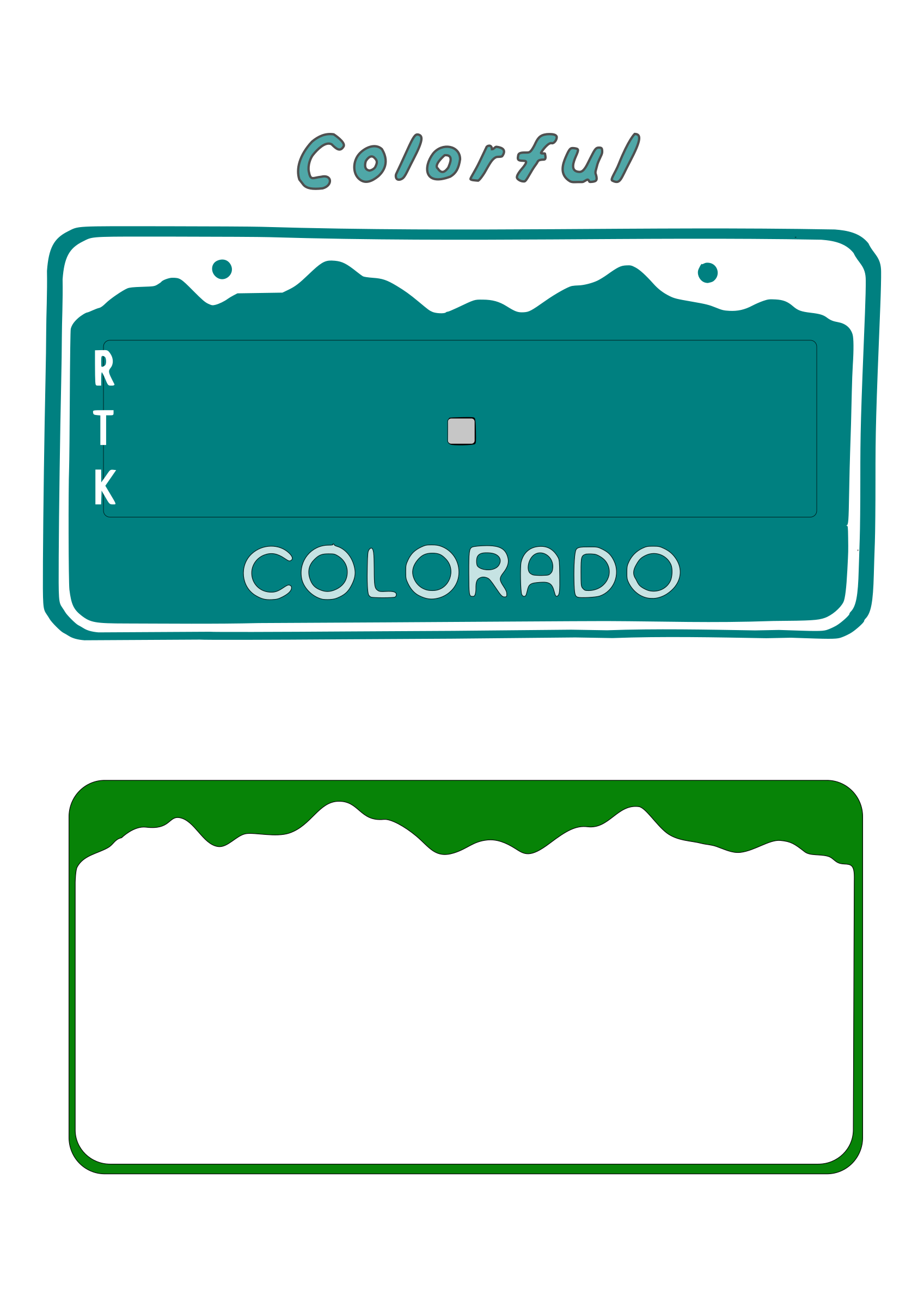 Colorado License Plate Blanks by Boort