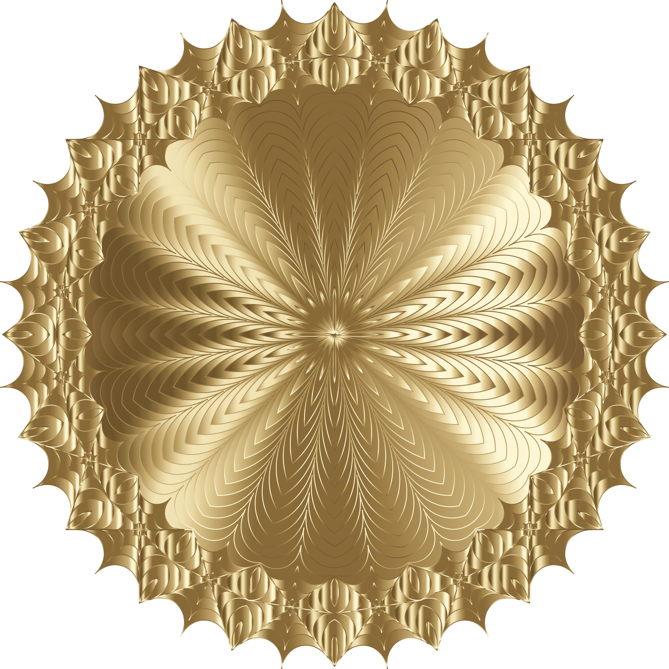 Mandala Line Art Design Gold by GDJ