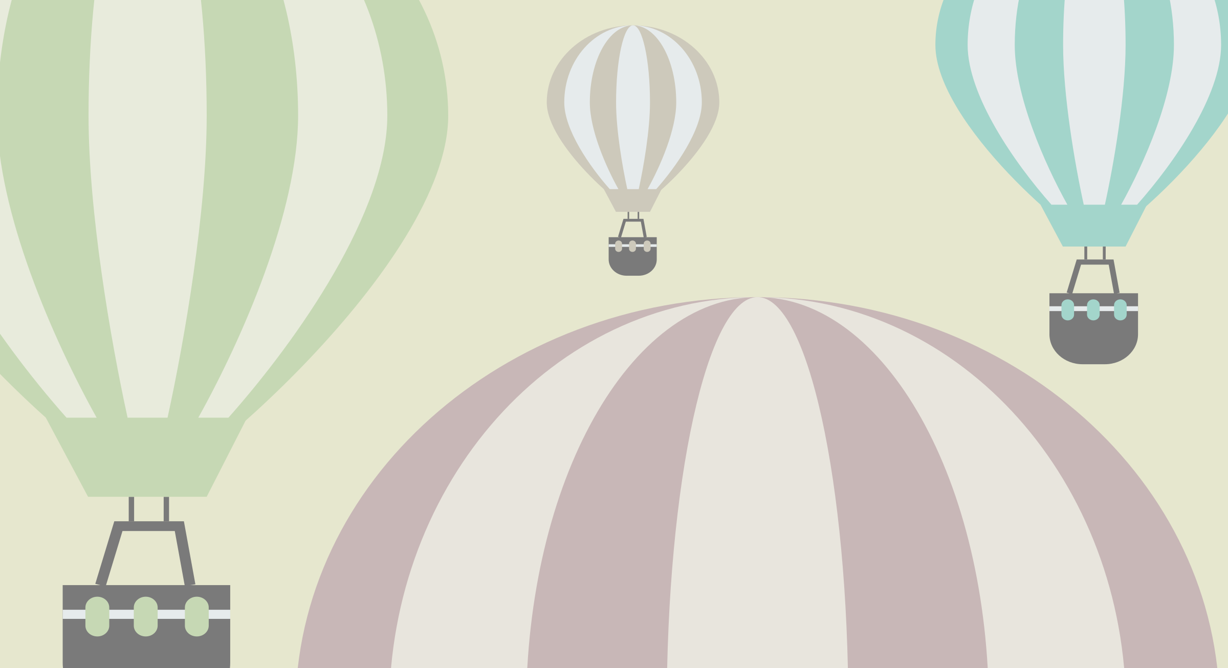 Hot air balloons background by anarres