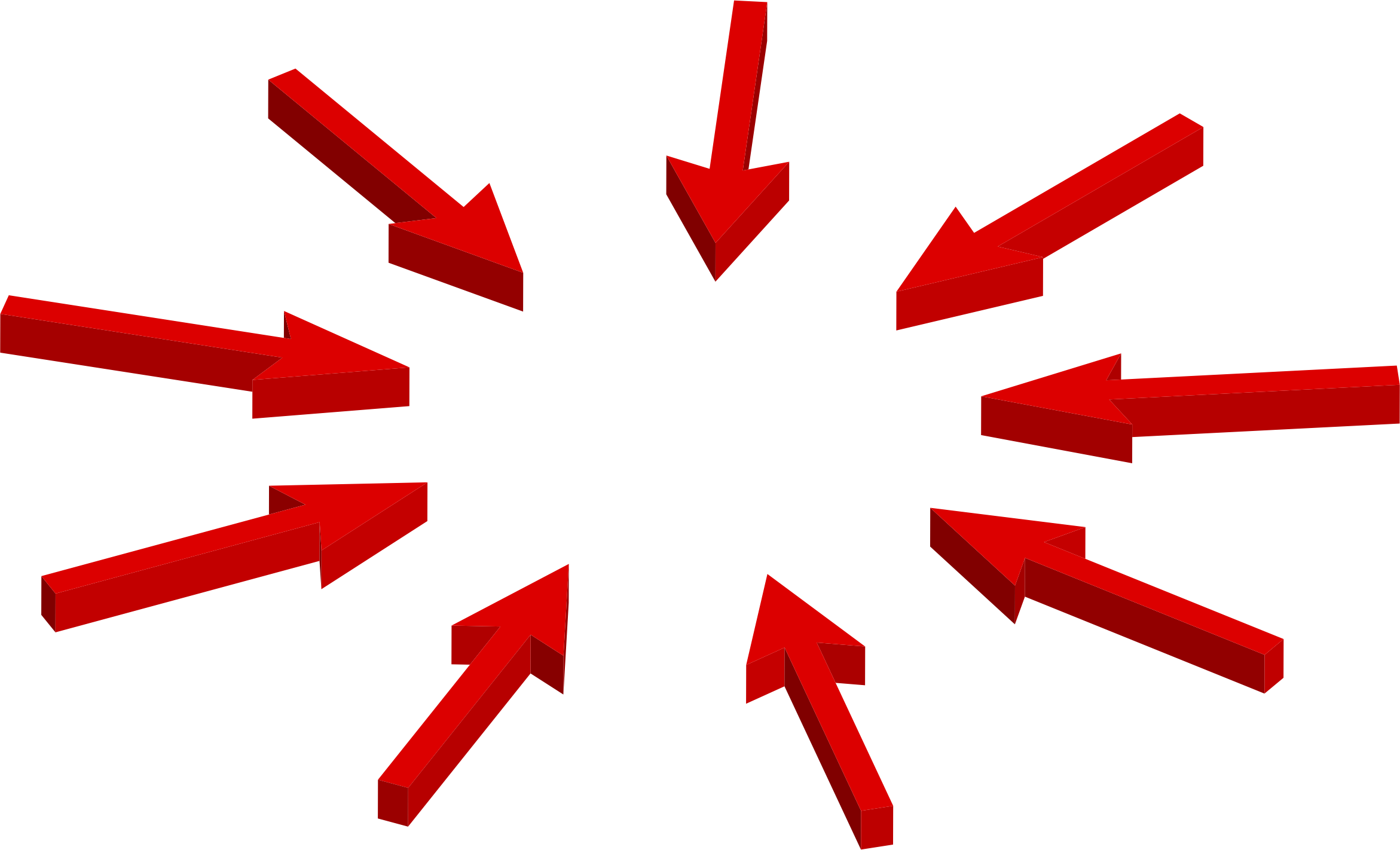 Clipart Isometric Arrows Pointing To Center